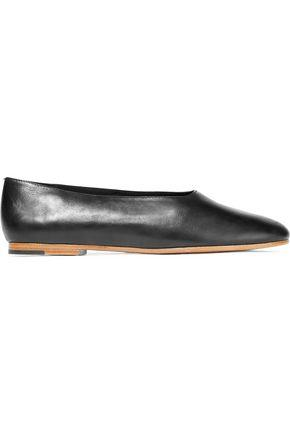 Vince Woman Maxwell Leather Ballet Flats Black