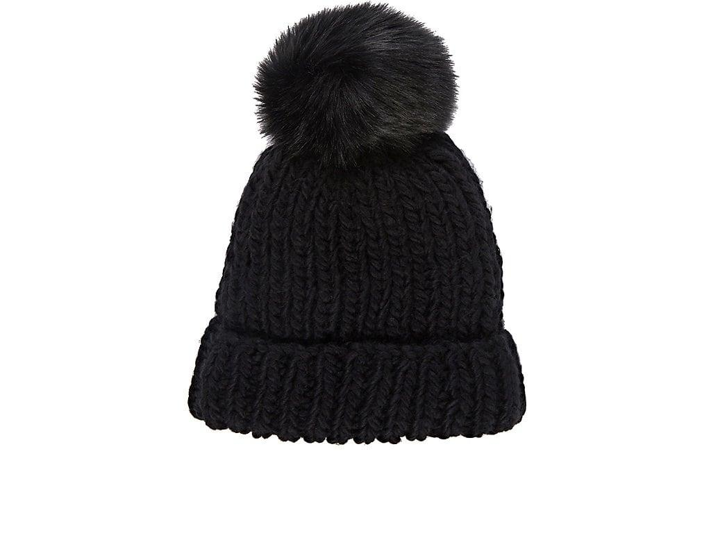 e4b1ba3d31c Barneys New York Pom-Pom-Embellished Hat - Black