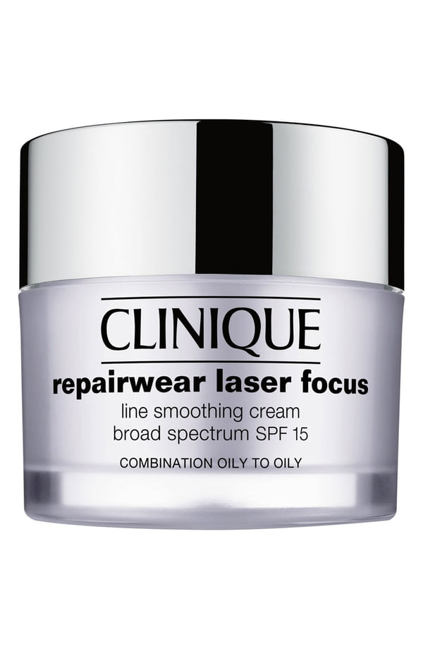 Clinique Repairwear Laser Focus Line Smoothing Cream Broad Spectrum Spf 15 For Combination Oily To Oily Skin