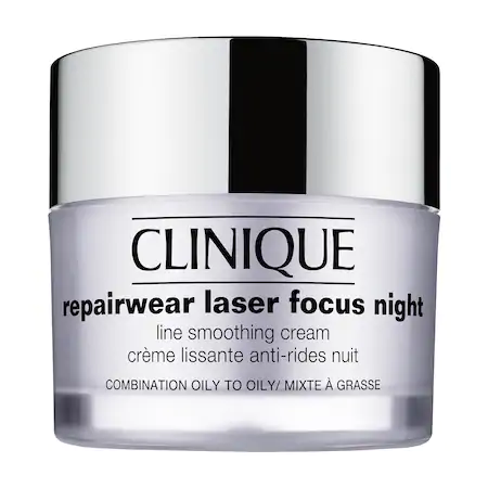 Clinique Repairwear Laser Focus Night Line Smoothing Cream For Combination Oily To Oily Skin 1.7 oz/ 50 ml
