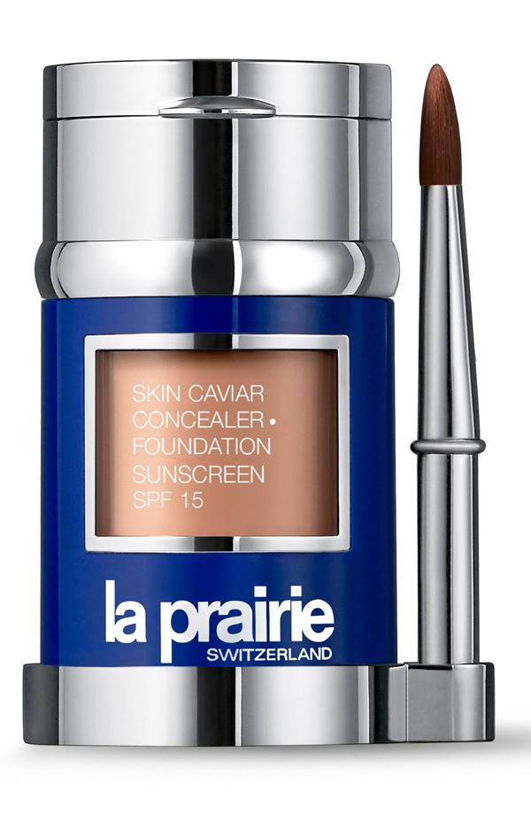 La Prairie Skin Caviar Concealer + Foundation Sunscreen Spf 15 In Porcelaine Blush
