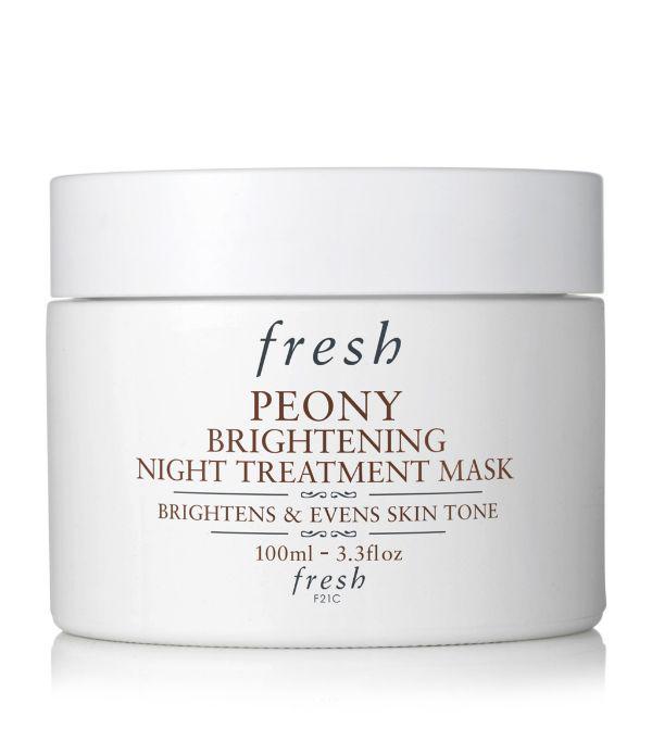 Fresh Peony Brightening Night Treatment Mask 3.3 oz/ 100 ml In White