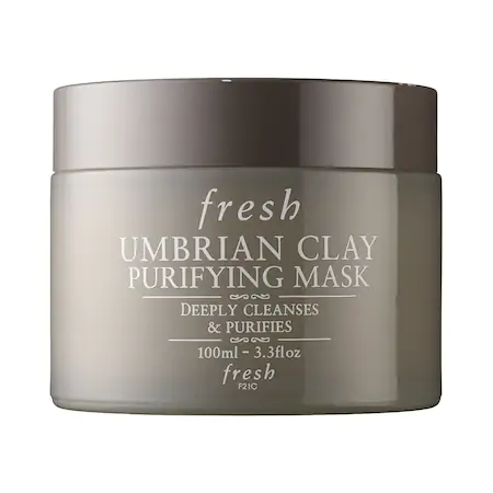 Fresh Umbrian Clay Pore Purifying Face Mask 3.3 oz/ 100 ml In White