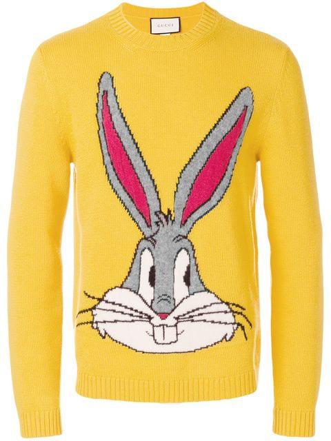 e6e3dd972 Gucci Bugs Bunny Intarsia Knit Sweater In Yellow | ModeSens