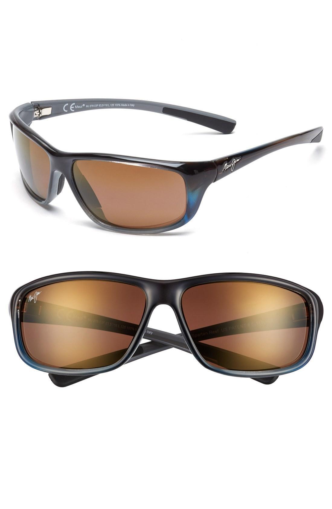 6179b2ffbf7 Maui Jim 'Spartan Reef - Polarizedplus2' 64Mm Sunglasses - Marlin/ Hcl  Bronze In