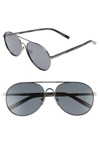 Ted Baker 59mm Aviator Sunglasses In Gunmetal