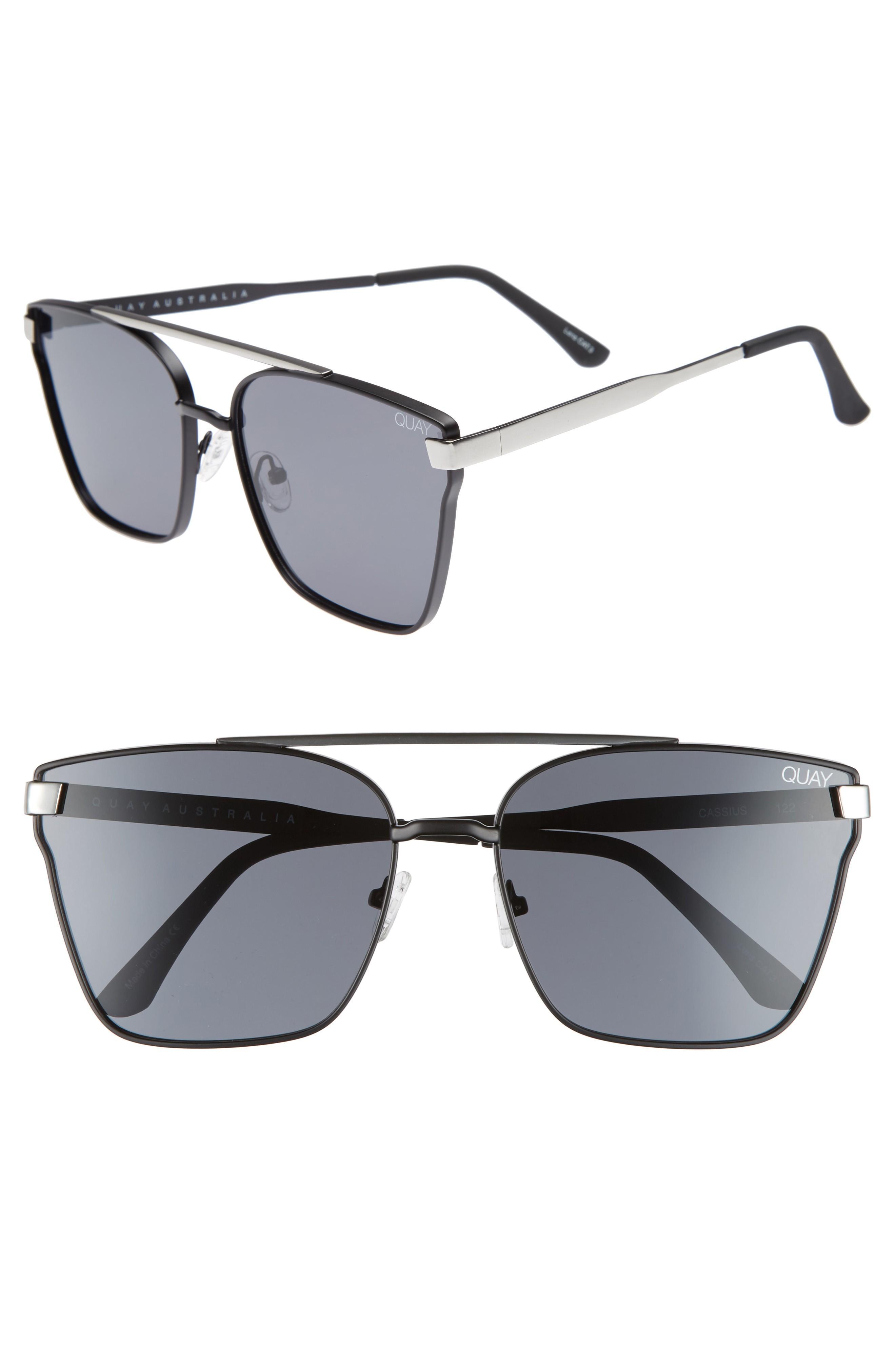 185ae9a637 Quay Cassius 59Mm Navigator Sunglasses - Black Smoke
