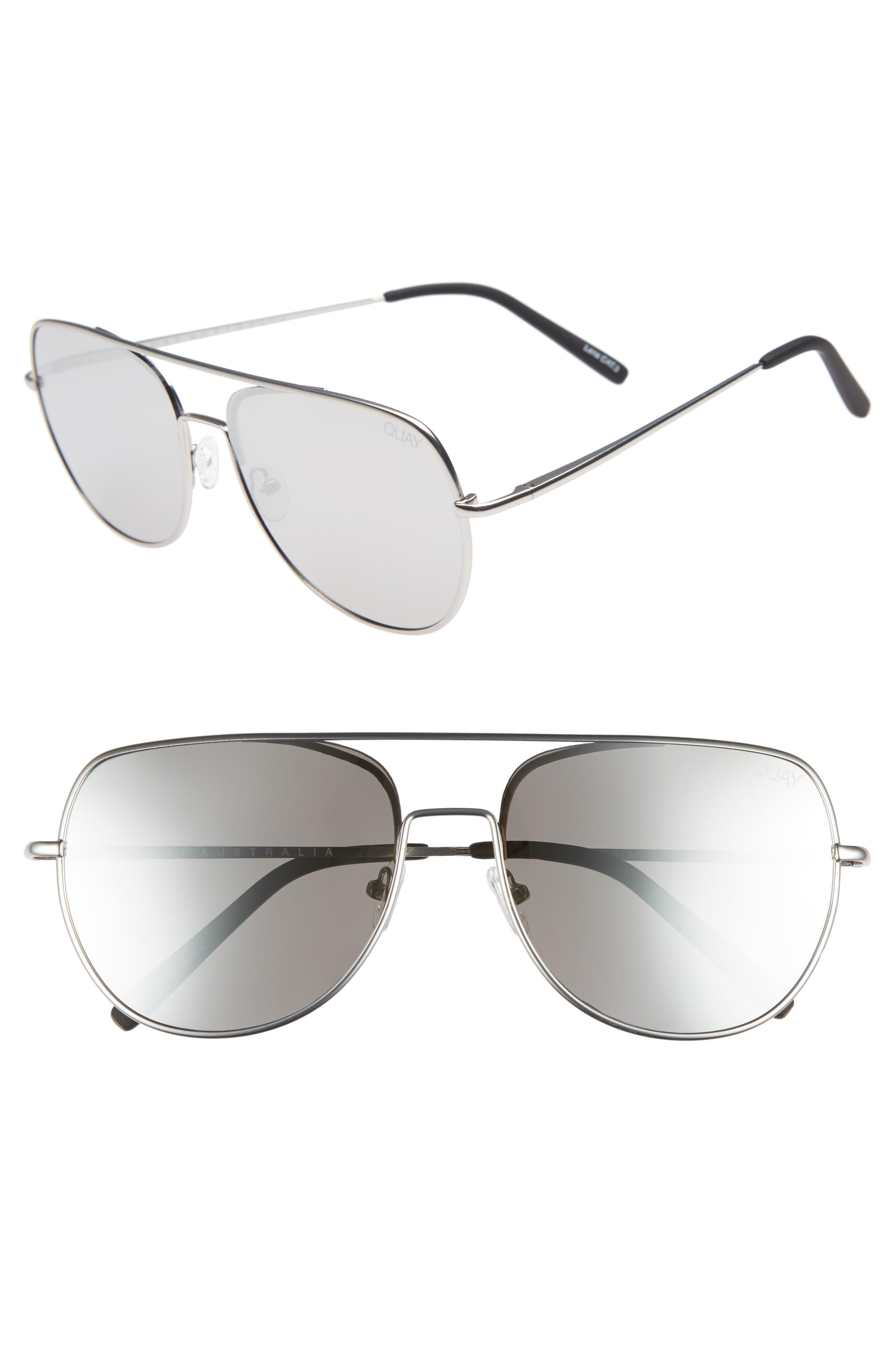 ba84648d65 Quay Living Large 58Mm Aviator Sunglasses - Silver