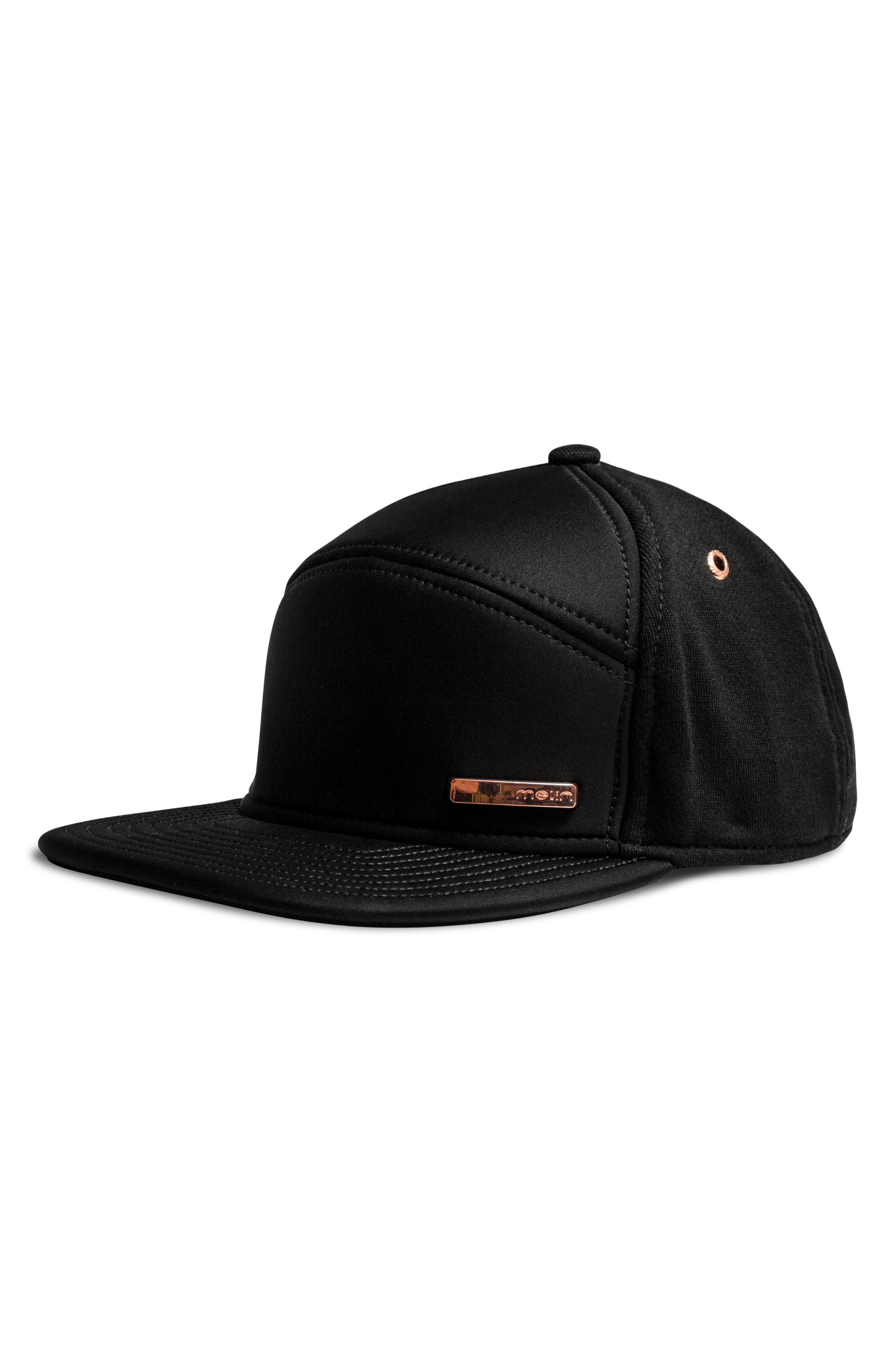 buy online 93f90 1512f Melin Mini Bar Snapback Cap - Black In Black  Rose