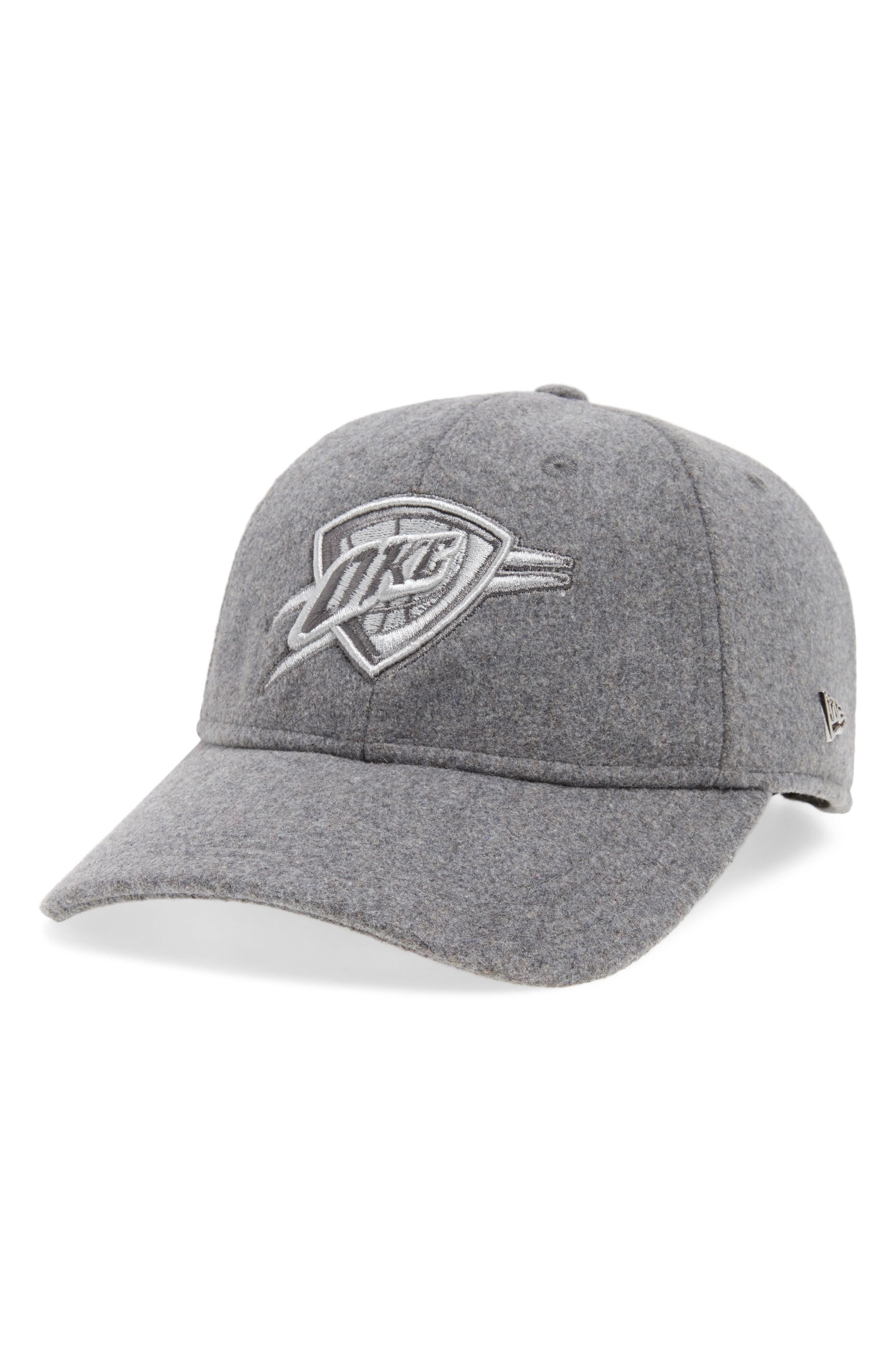 New Era Nba Cap - Grey In Oklahoma City Thunder