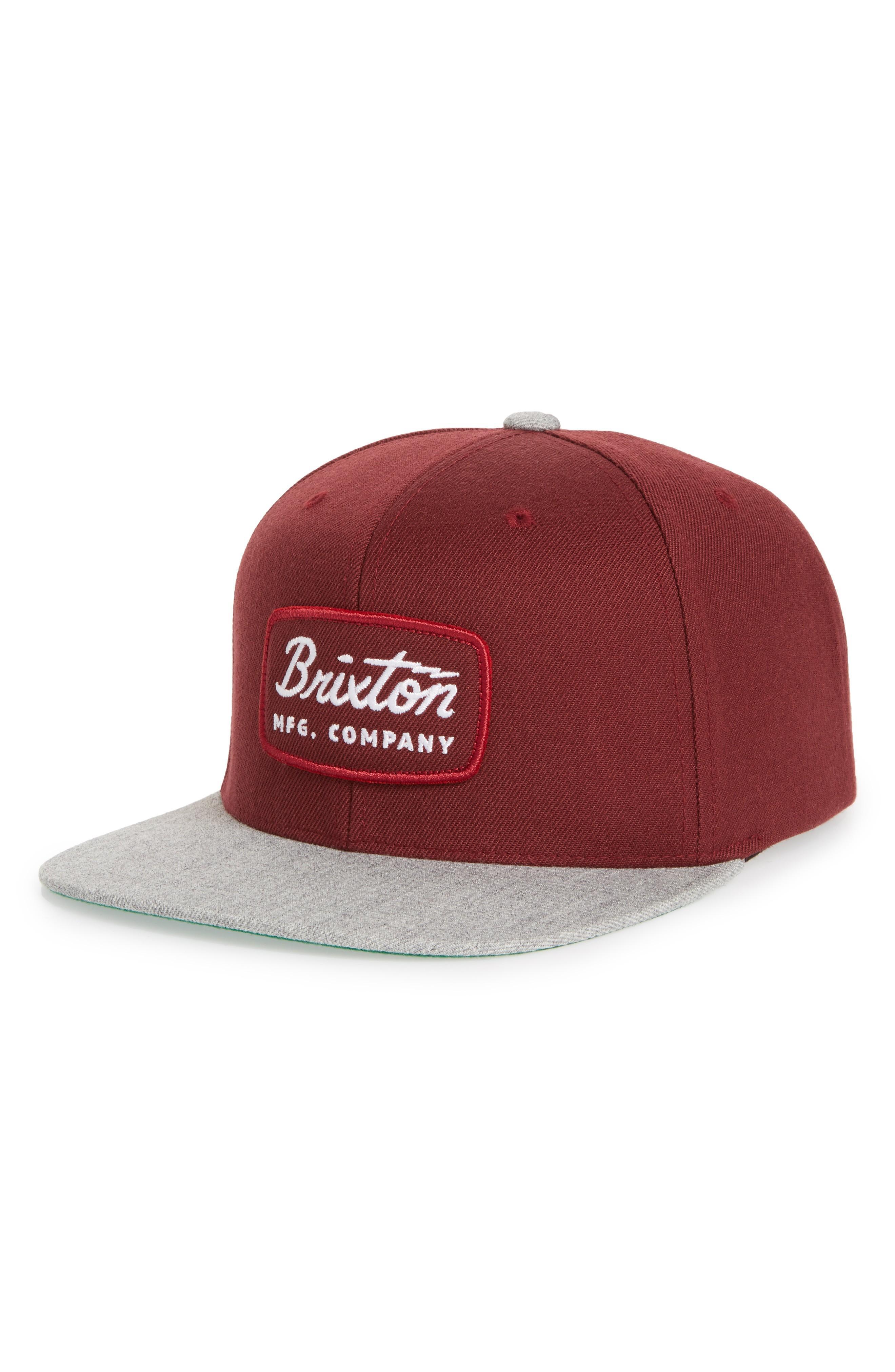 3aeb56db64c011 Brixton 'Jolt' Snapback Cap - Grey In Heather Grey/ Maroon   ModeSens