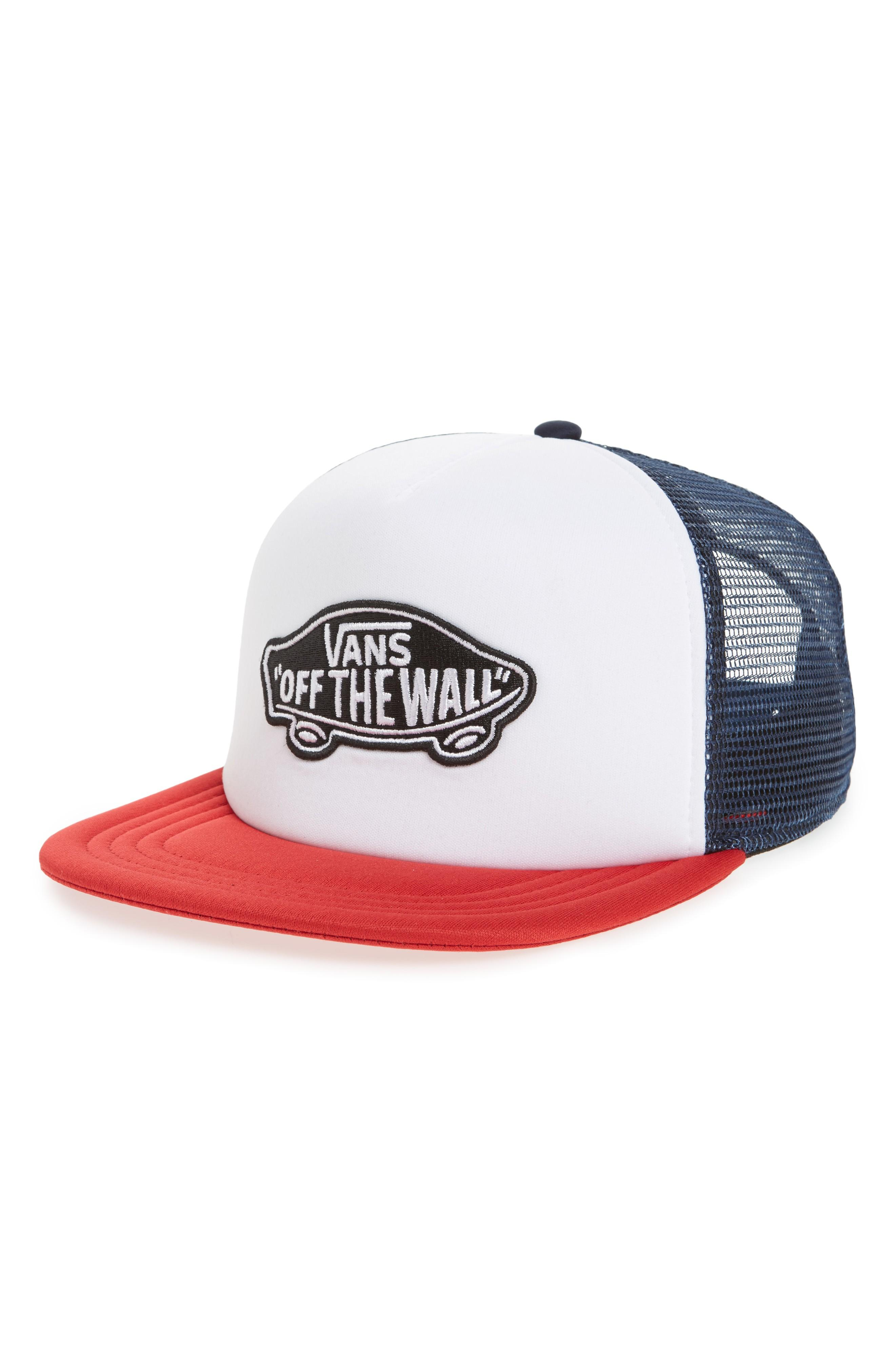 763fa587601 Vans Classic Patch Trucker Hat - Blue In Dress Blues  White  Chili ...