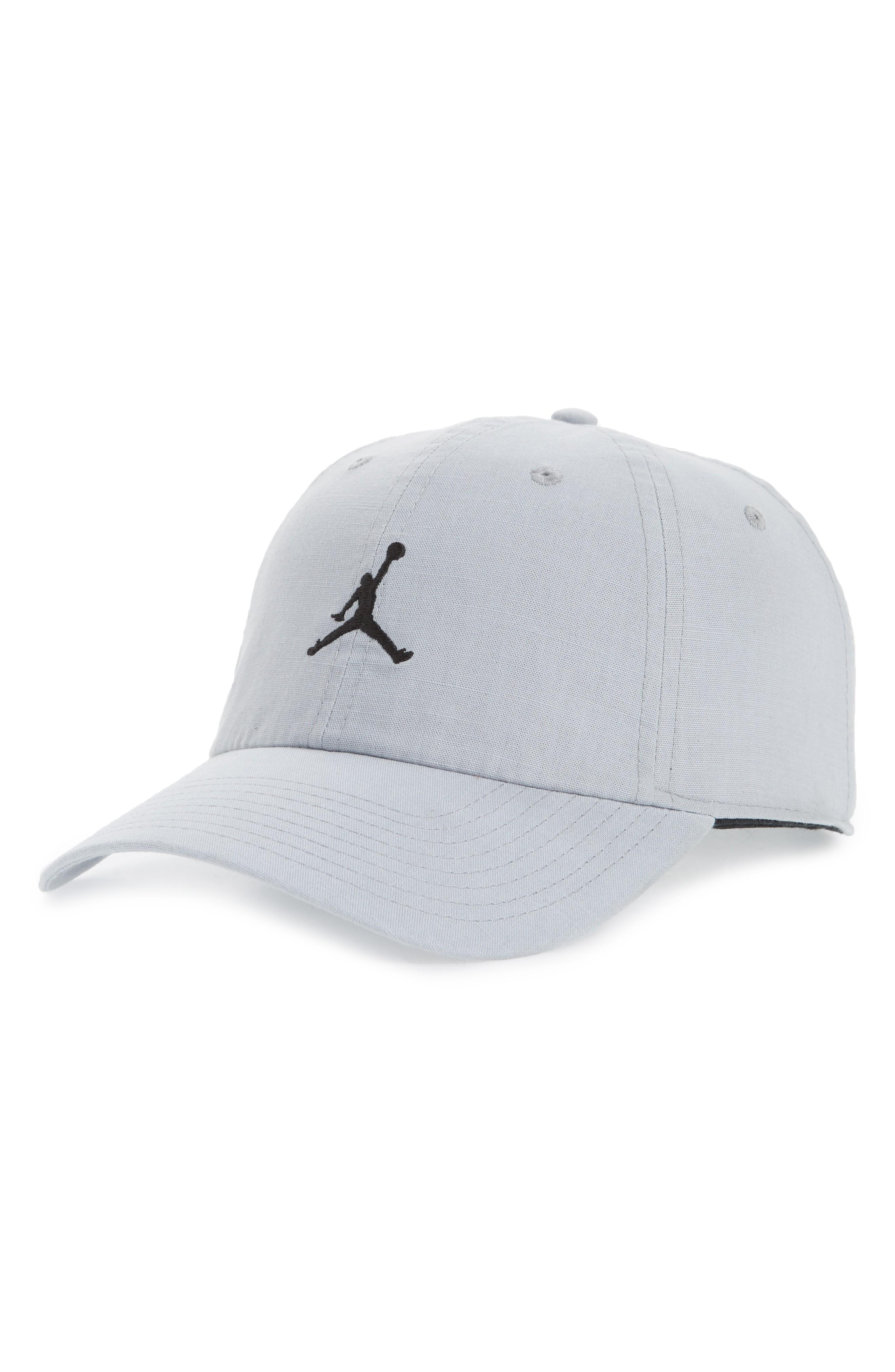 hot sale online 600e1 c0d3b Nike Jordan H86 Jumpman Washed Baseball Cap - Black In Wolf Grey  Black