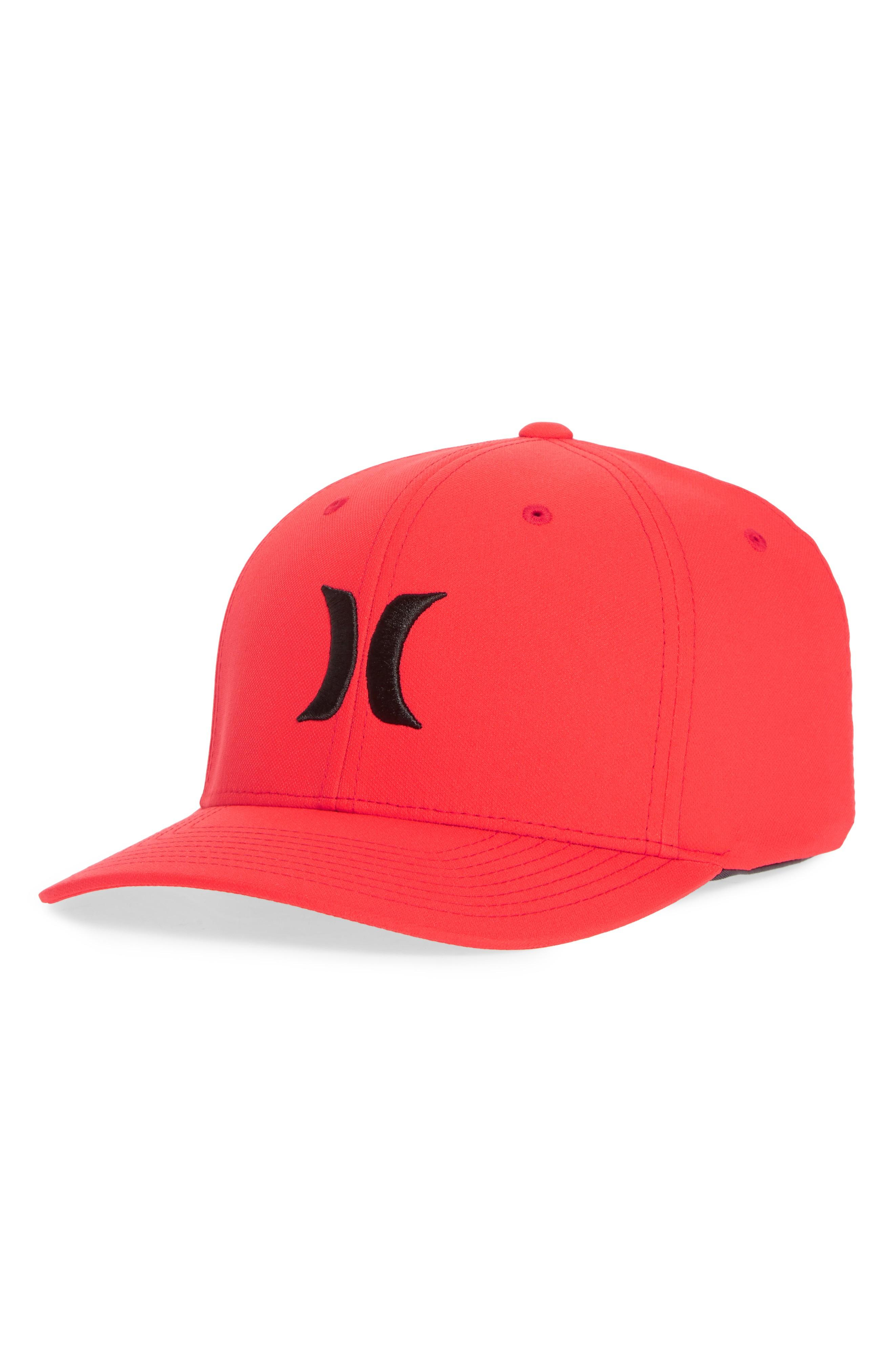 new concept 5afad e6c88 Hurley Dri-Fit One   Only Logo Cap In Speed Red   Black