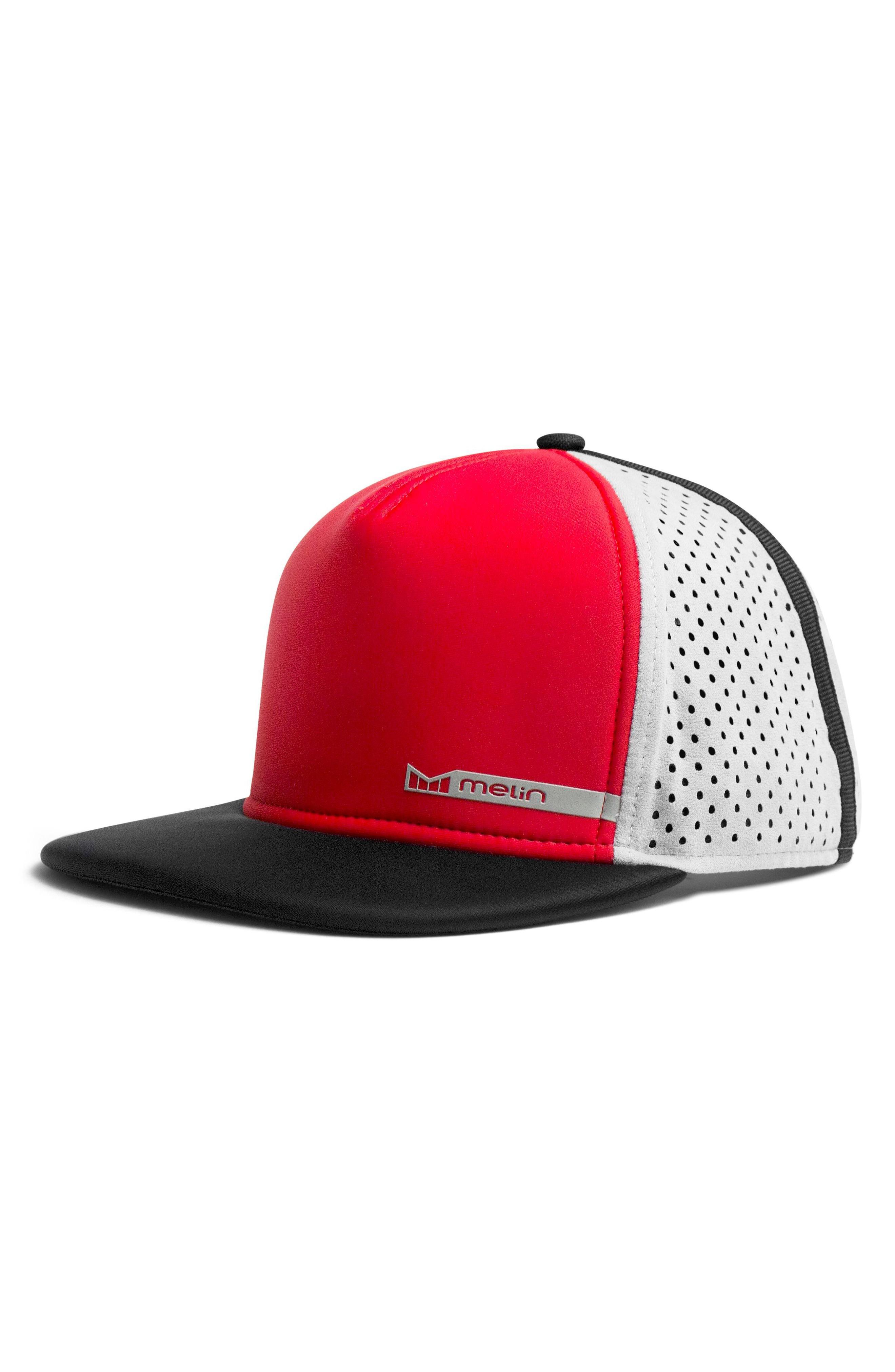 1f3c56c95 'Amphibian' Split Fit Snapback Baseball Cap - Red in Red/ Grey
