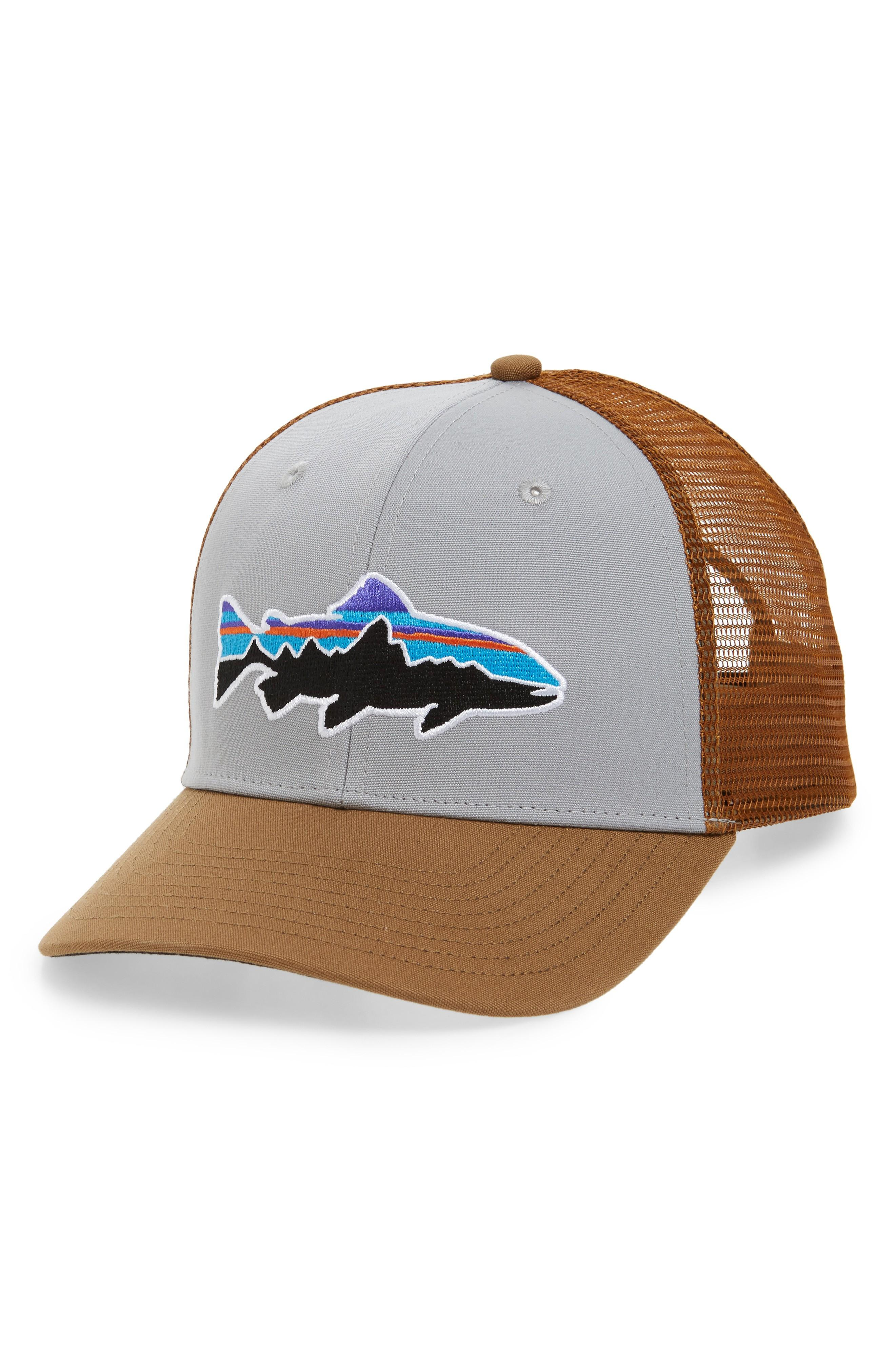 41e95bb77cbcd Patagonia  Fitz Roy - Trout  Trucker Hat - Grey In Drifter Grey  Coriander