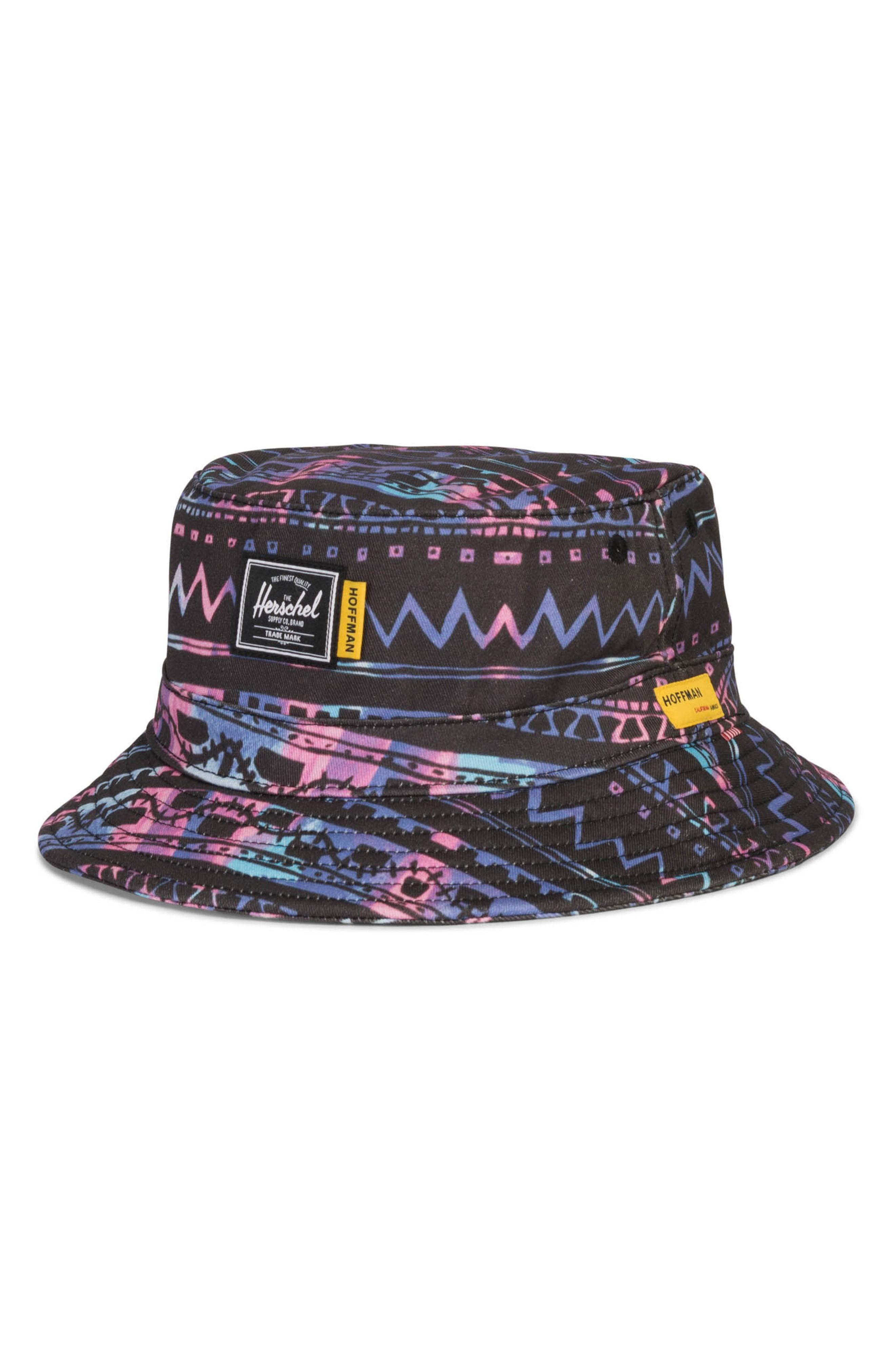 official photos 1f0d1 64cd6 Herschel Supply Co. Hoffman Bucket Hat In Zig Zag Blue
