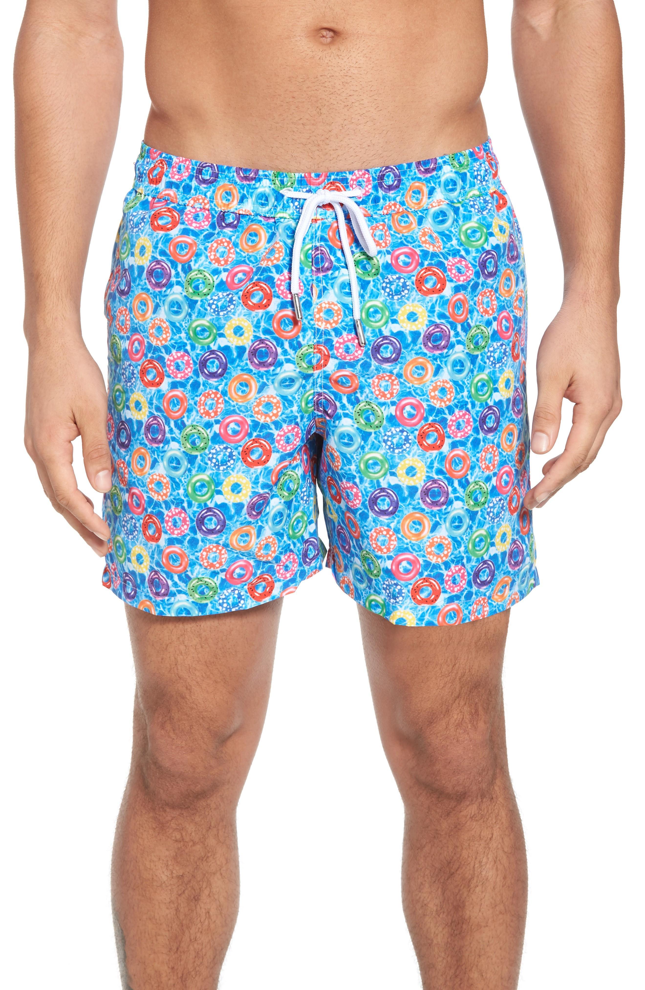 e1f213cb3e Jared Lang Trim Fit Swim Shorts In Blue Donuts | ModeSens