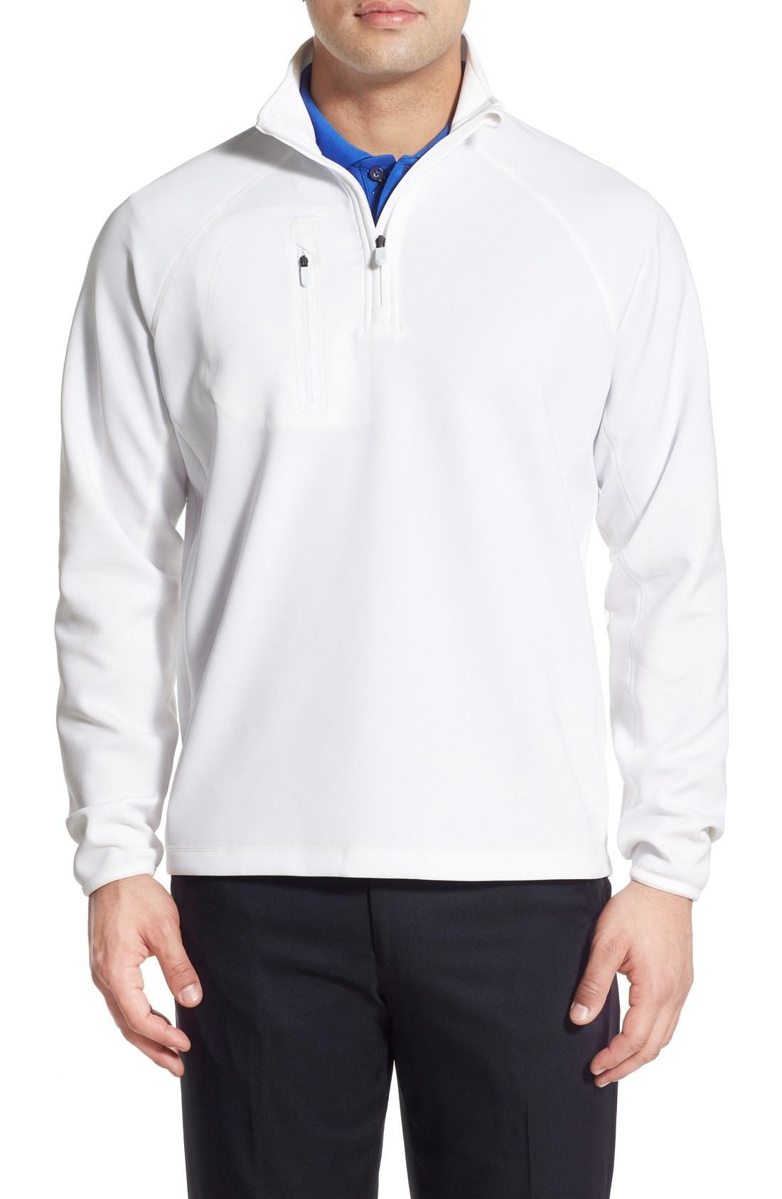 55f4cf079 Bobby Jones Xh2O Crawford Stretch Quarter Zip Golf Pullover In White ...