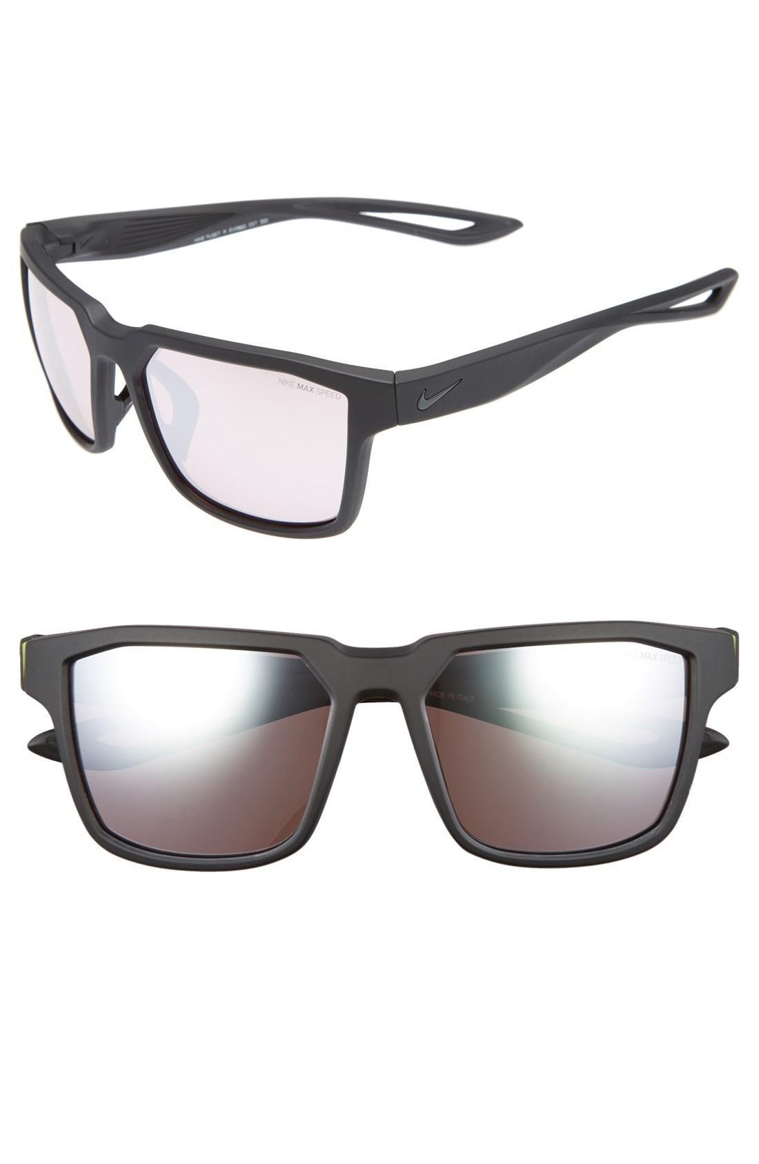 20ee3d33536c Nike Fleet 55Mm Sport Sunglasses - Matte Black/ Volt | ModeSens
