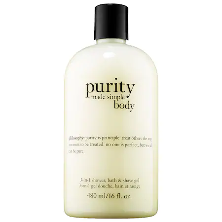 Philosophy Purity Made Simple 3-in-1 Shower, Bath & Shave Gel 16 oz/ 480 ml