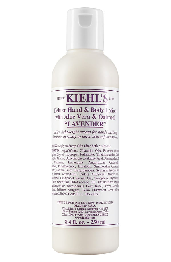 Kiehl's Since 1851 Lavender Deluxe Hand & Body Lotion With Aloe Vera & Oatmeal, 8.4 Fl. Oz.