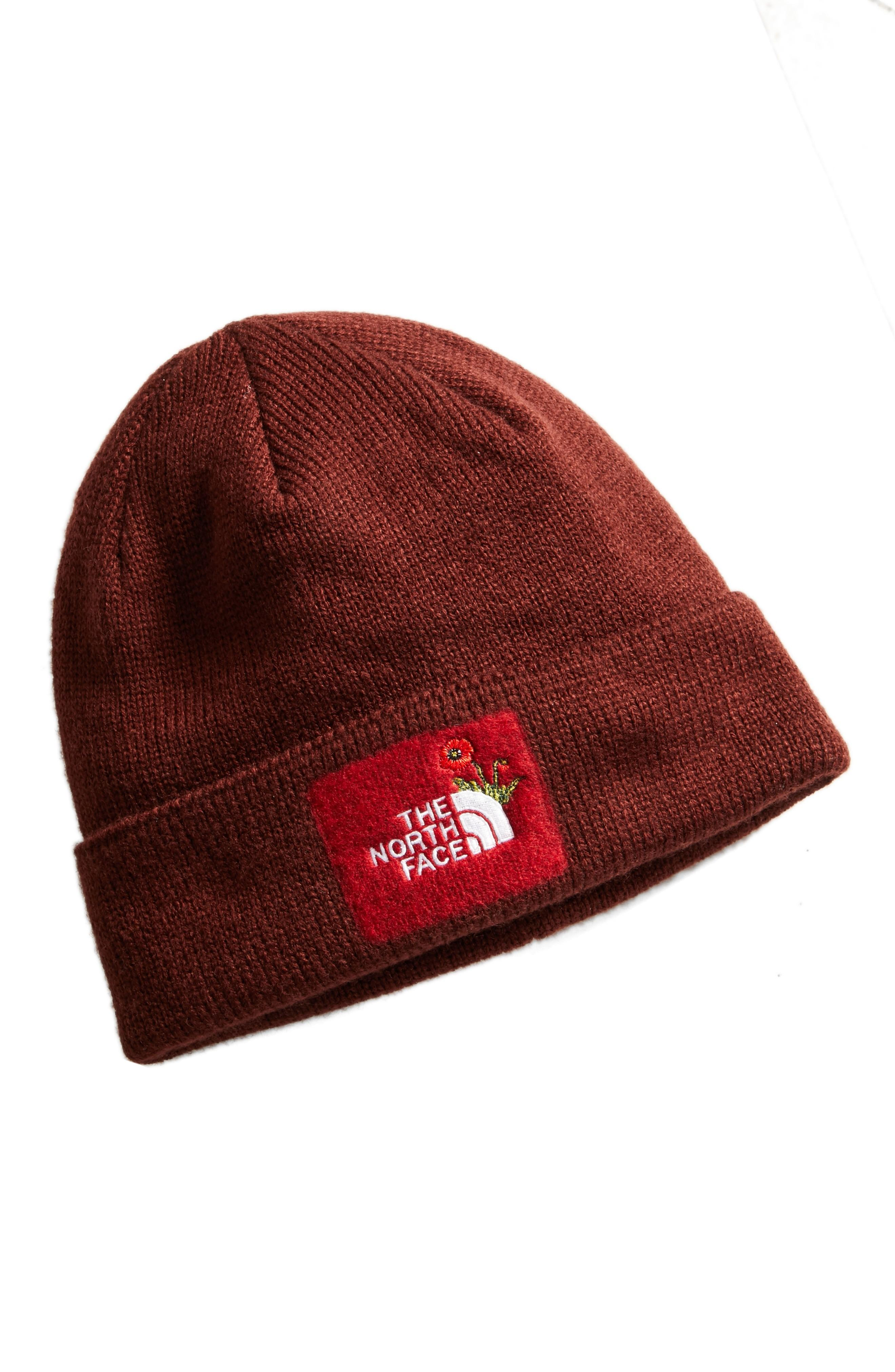 b412bac540e62 The North Face Felted Logo Beanie - Red In Sequoia Red