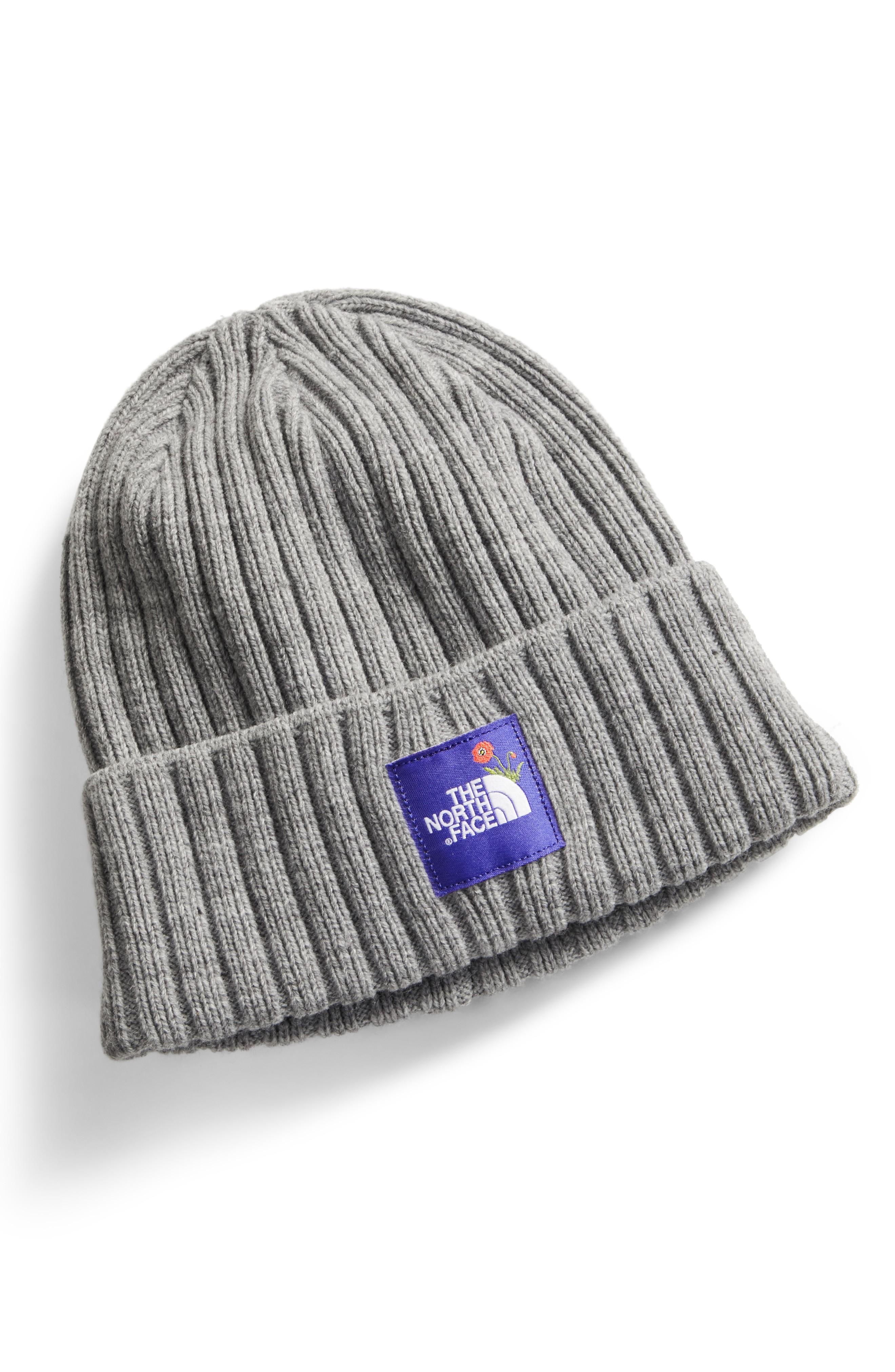 98943e470dd The North Face Logo Boxed Cuffed Beanie - Grey In Light Grey Htr ...