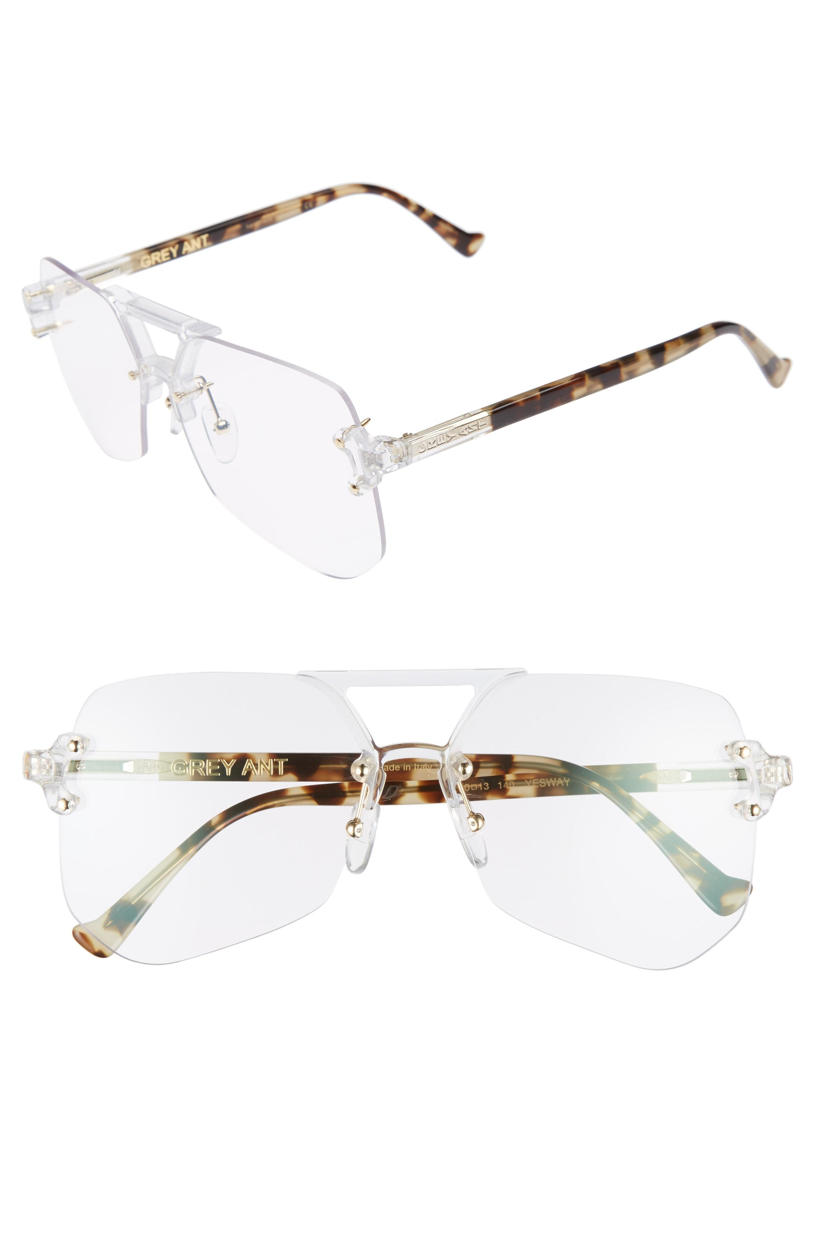 0f257aa6e4 Grey Ant Yesway 60Mm Optical Glasses In Gold   Tortoise