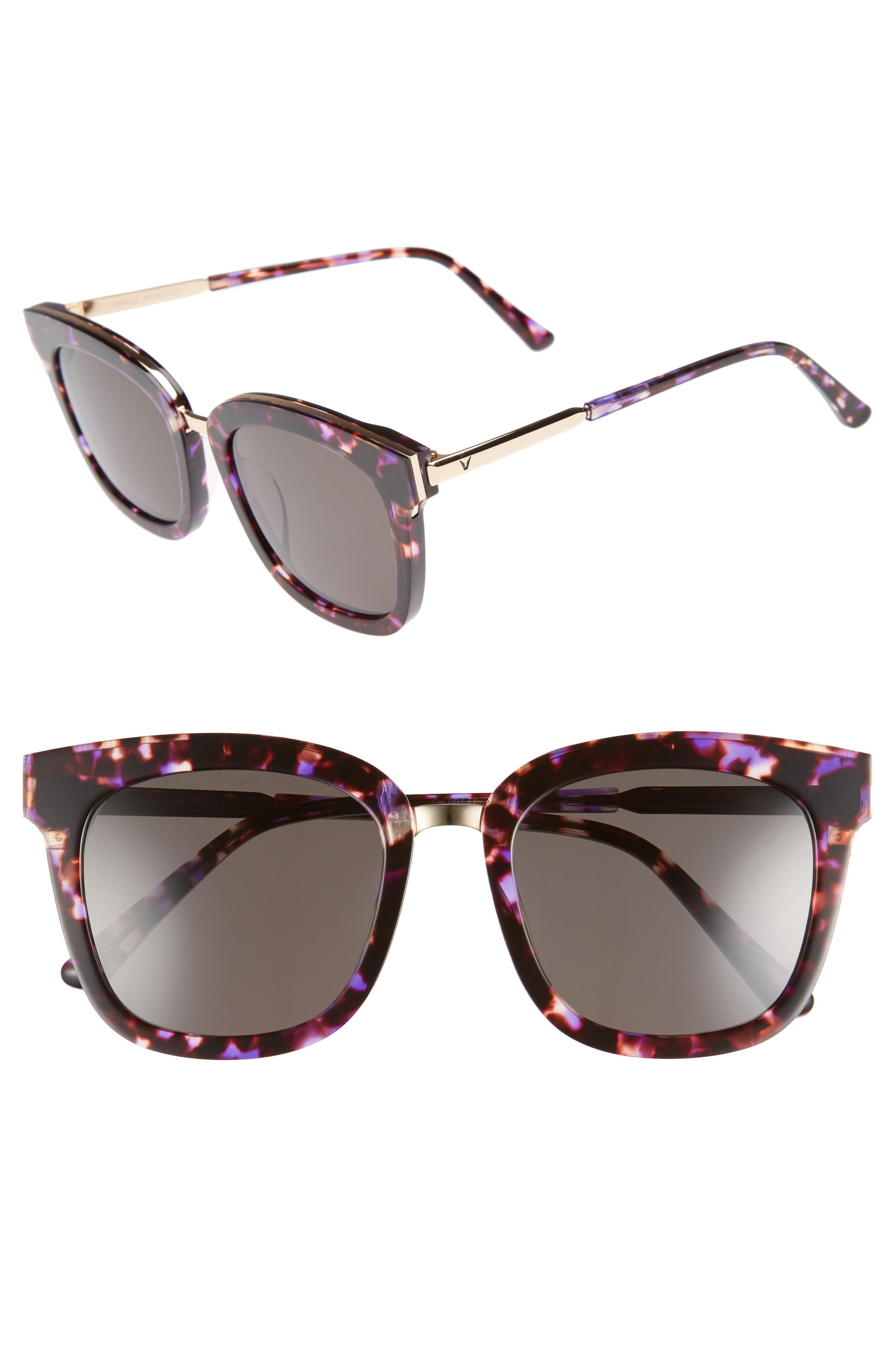 3a49fe0f8212b Gentle Monster Button 54Mm Zeiss Lens Sunglasses - Purple  Gold ...