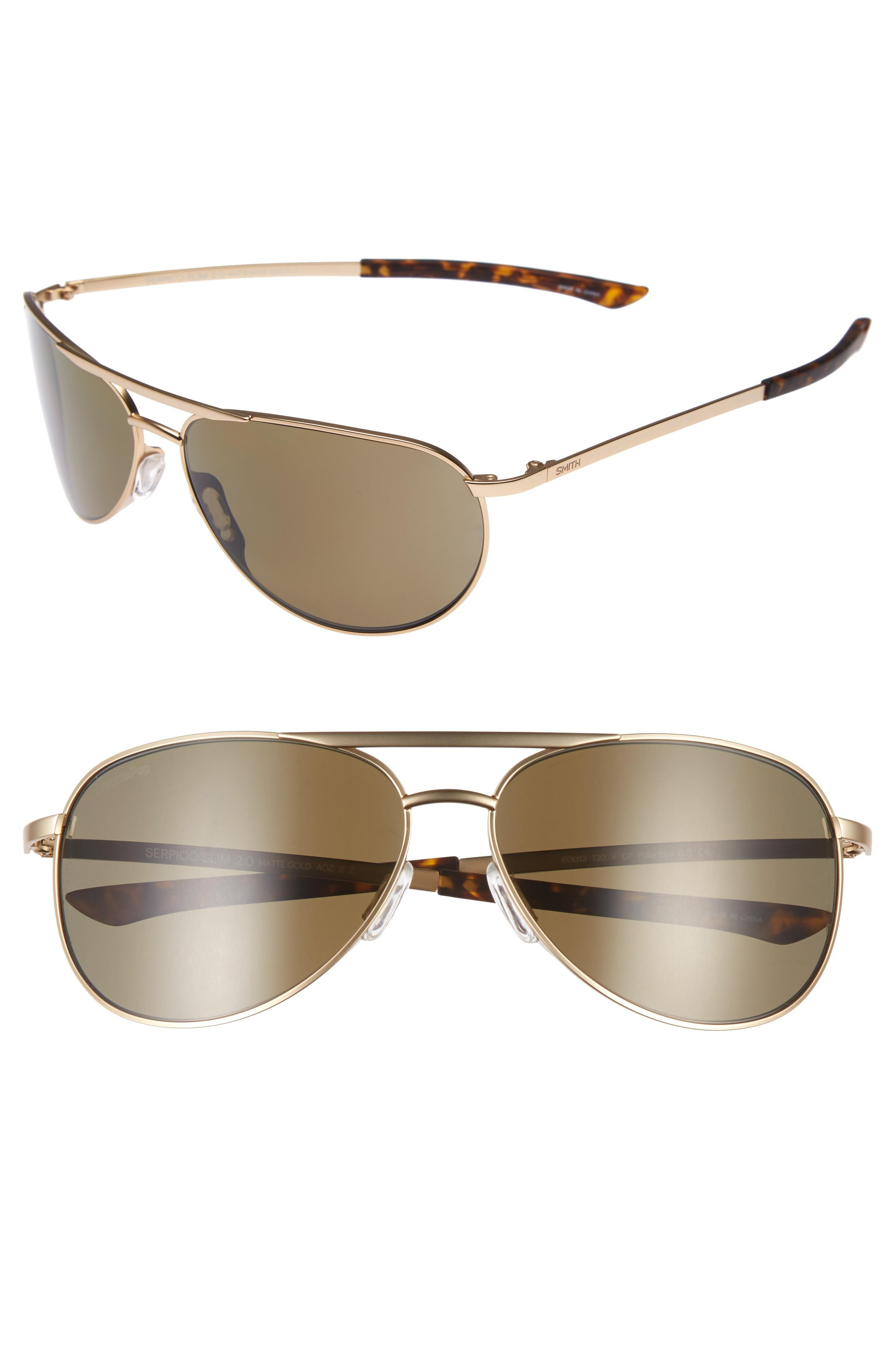 5e7269adaf27 Style Name  Smith Serpico Slim 2.0 60Mm Chromapop Polarized Aviator  Sunglasses. Style Number  5398691. Available in stores.