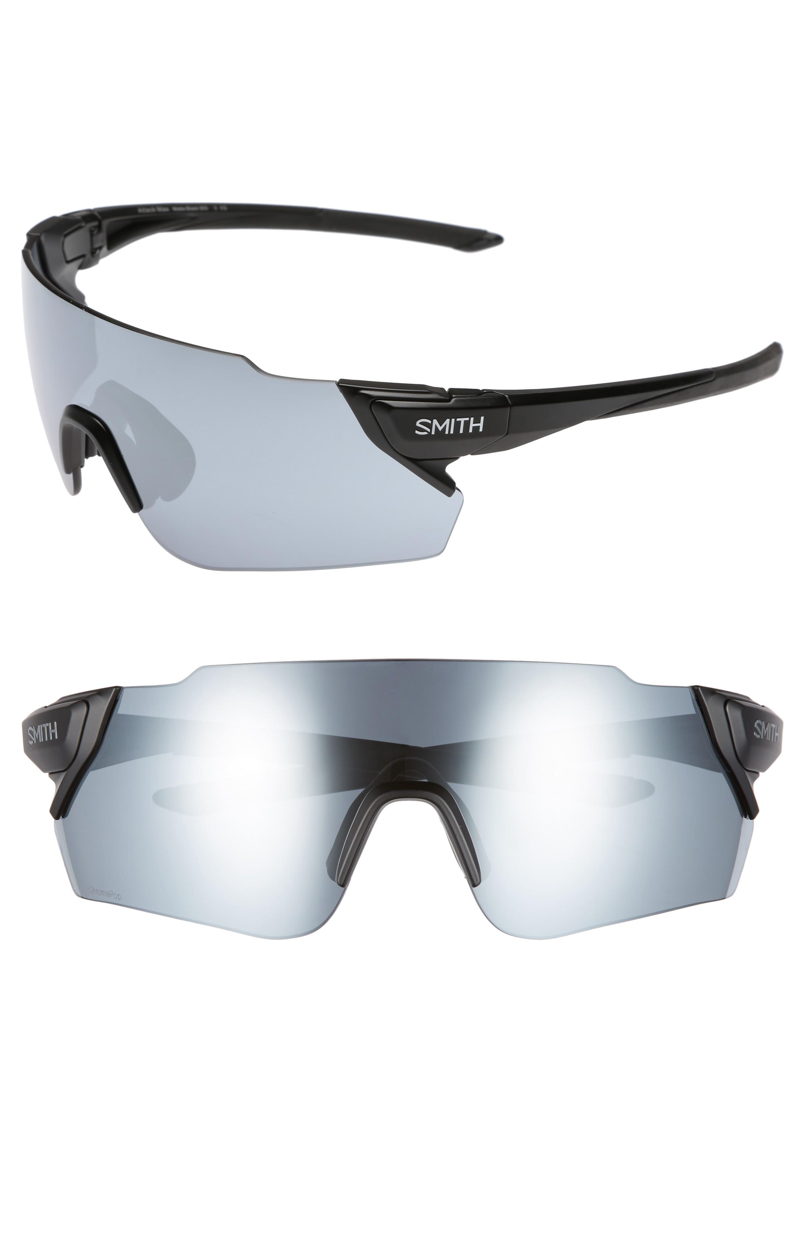 6d6e8b0fdac Smith Attack Max 125Mm Chromapop(Tm) Polarized Shield Sunglasses - Matte  Black  Platinum
