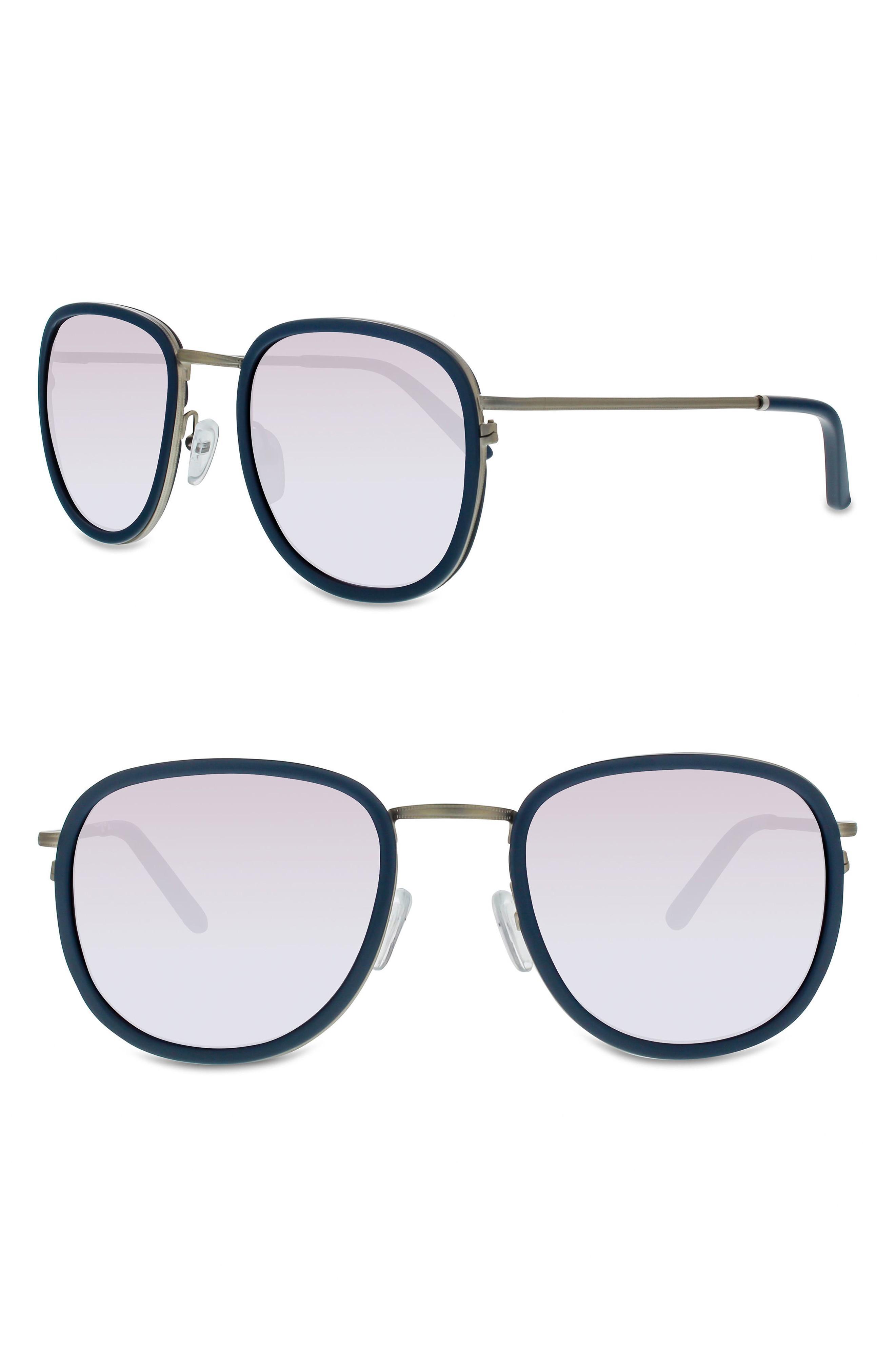 bacbf0f3be2 Smoke X Mirrors 51Mm Sunglasses In Milky Grey  Silver Mirror