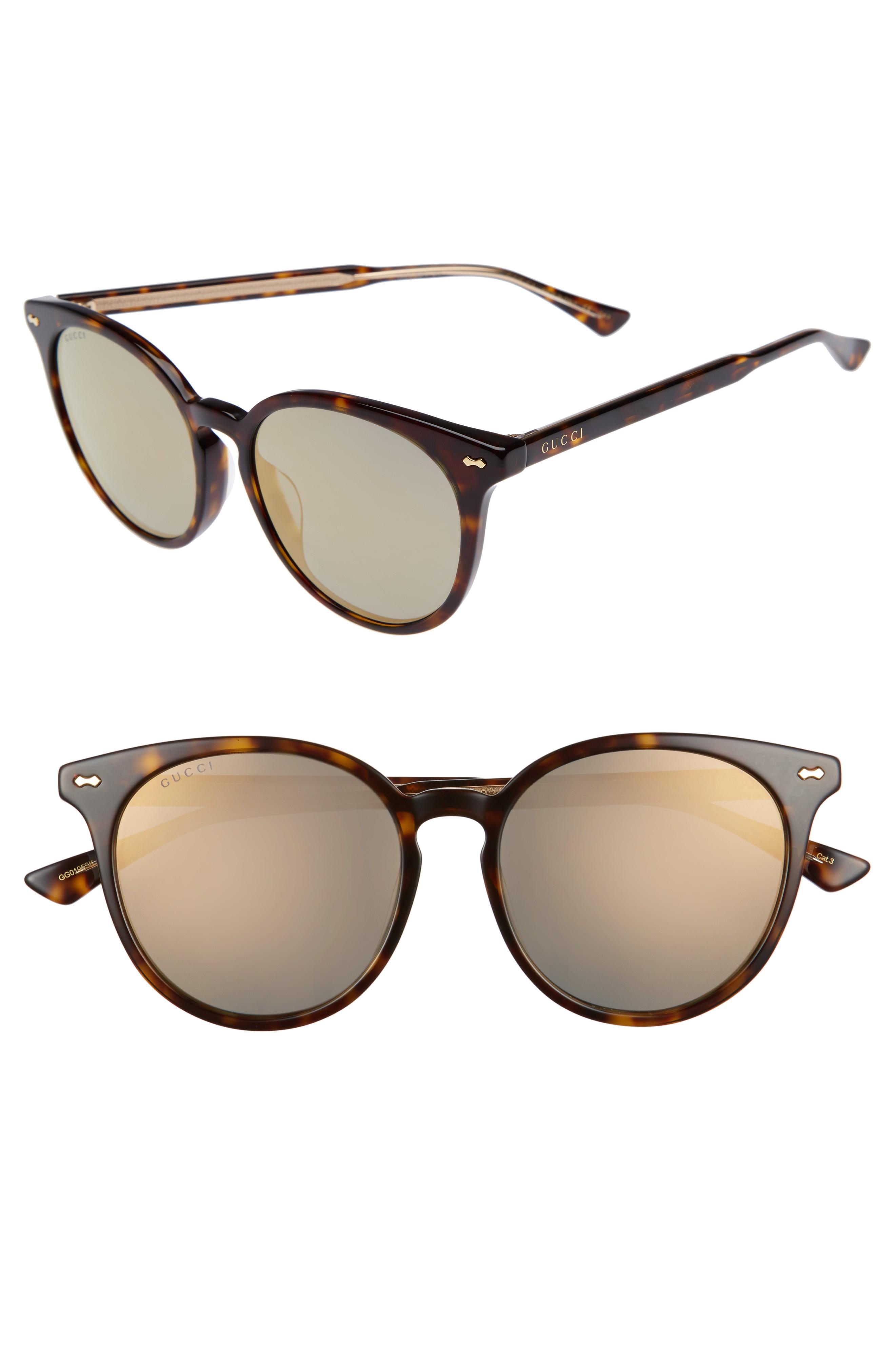 54789cc4882bd Gucci 55Mm Round Cat Eye Sunglasses - Havana