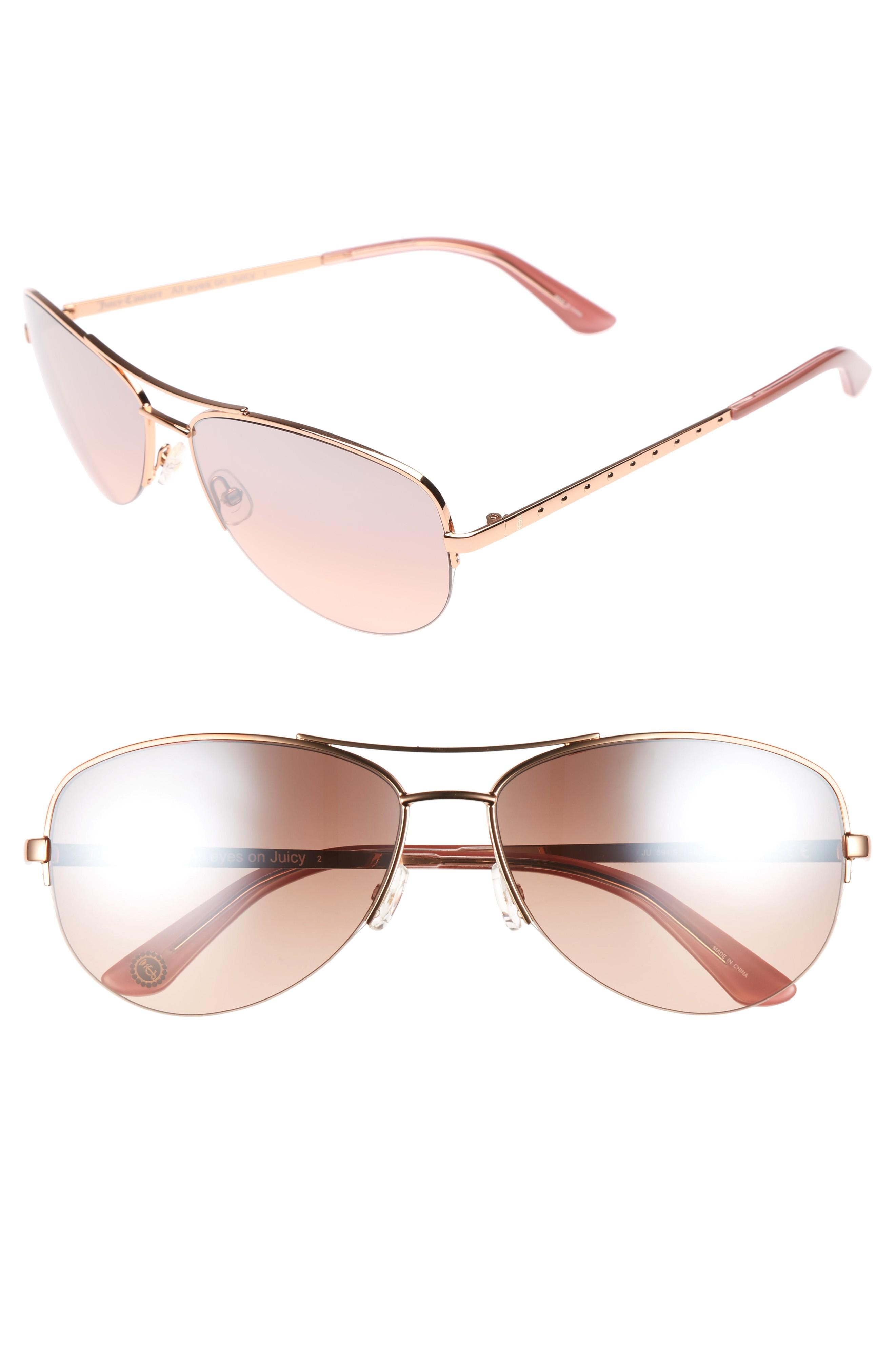 73f49222b5 Juicy Couture Black Label 60Mm Gradient Aviator Sunglasses - Red Gold
