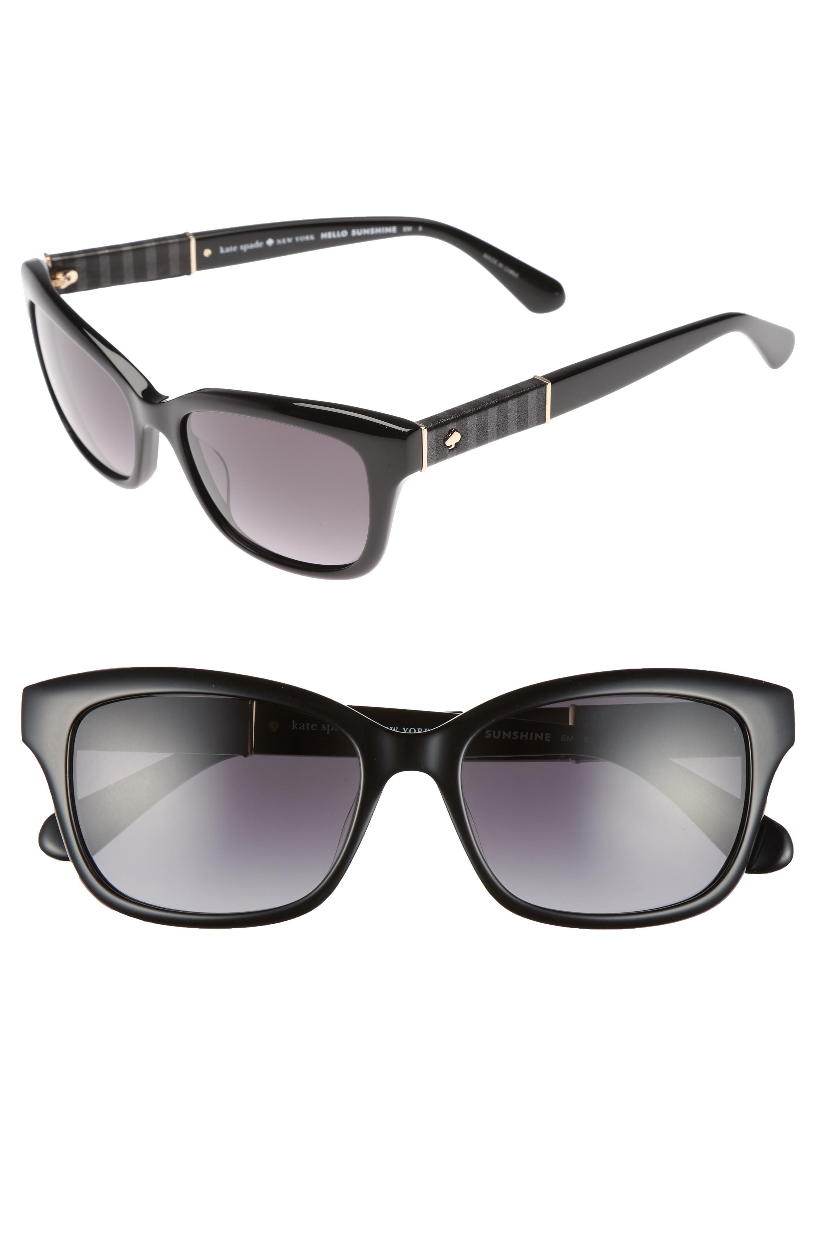ff5be83d1cea Kate Spade Johanna 2 53Mm Gradient Sunglasses - Black In Nocolor ...