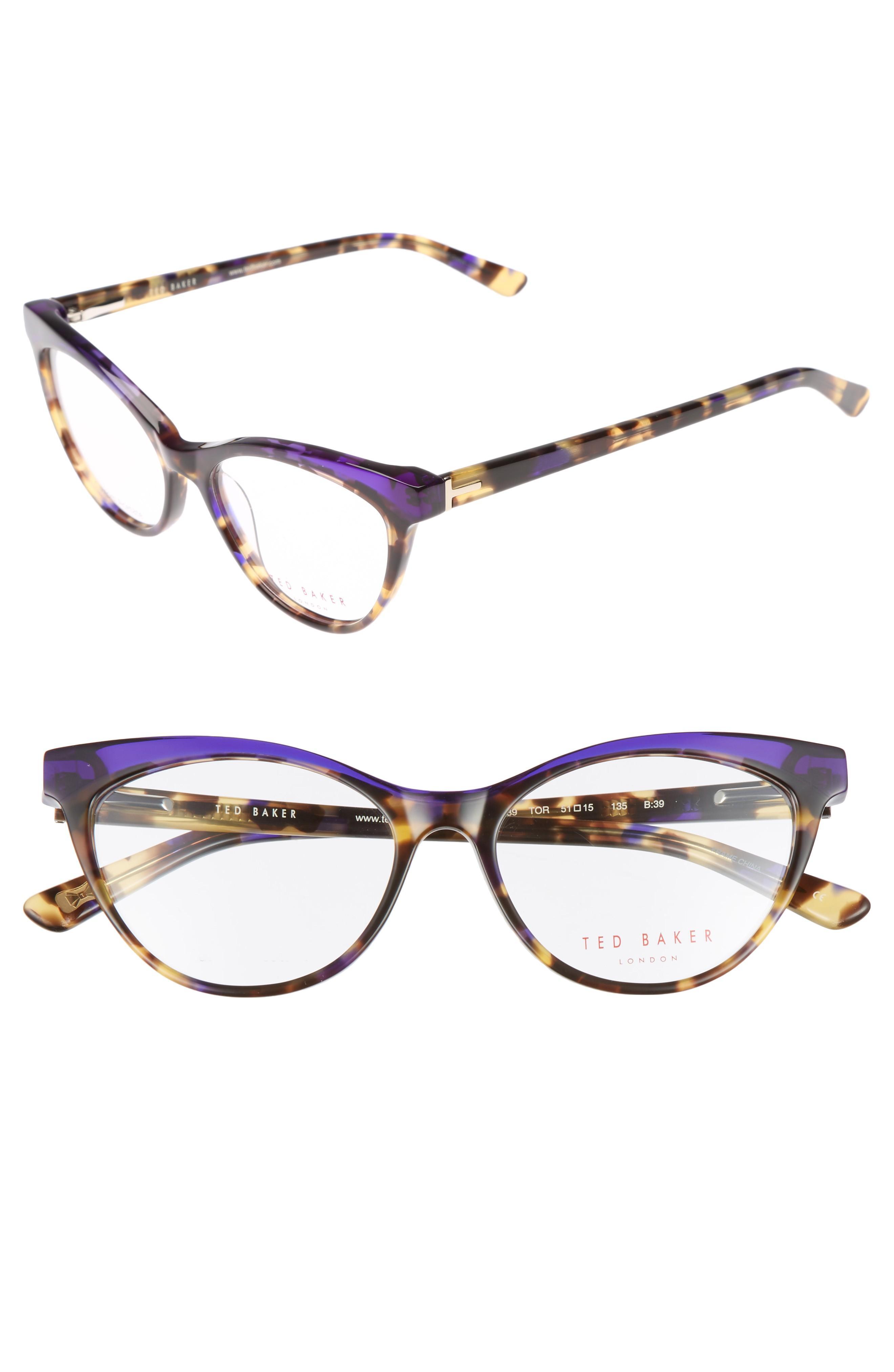 1edf51dd3c Ted Baker 51Mm Optical Cat Eye Glasses - Brown