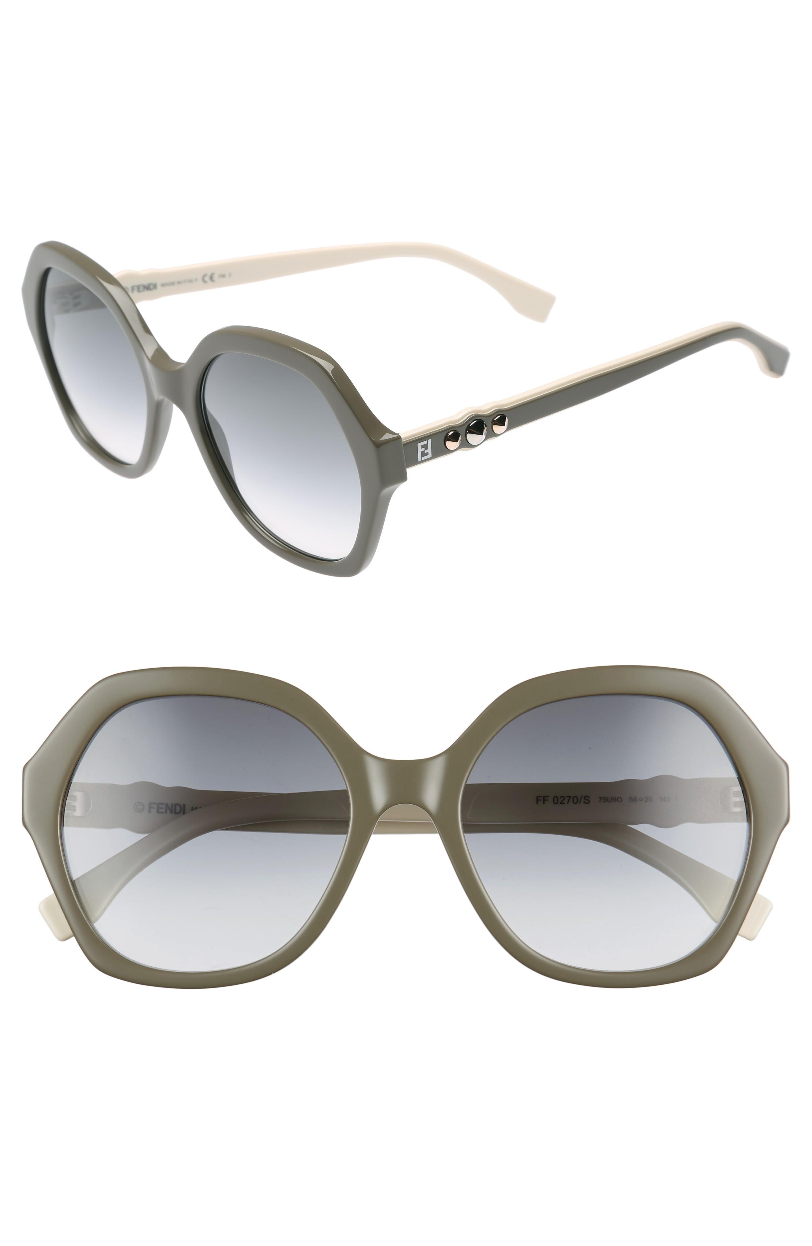 9a2ca580611c Fendi 56Mm Oversize Sunglasses - Mud