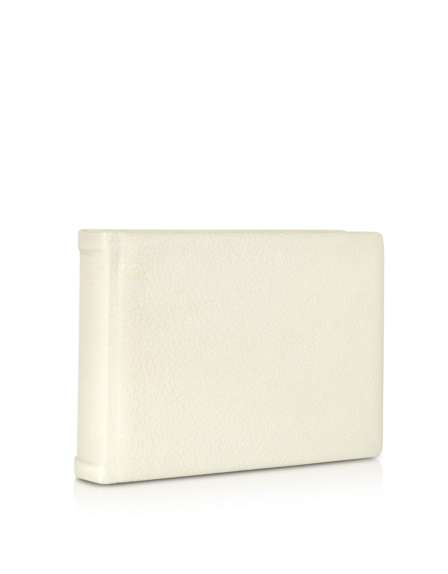 Pineider Small Ivory Leather Photo Album