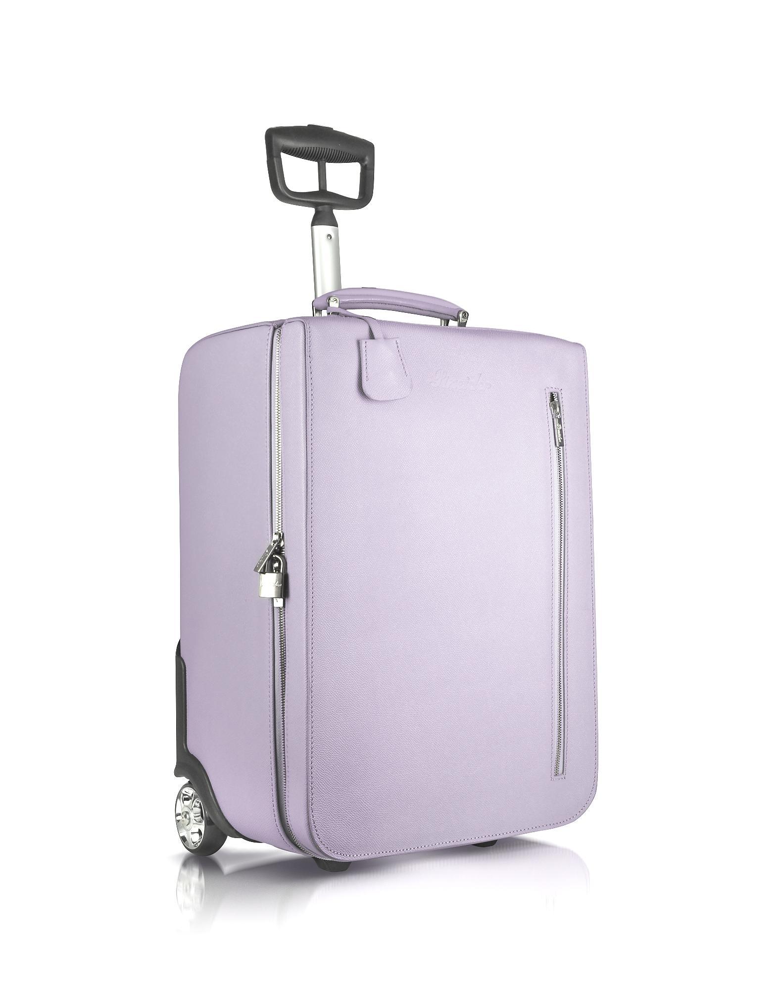 Pineider City Chic - Calfskin Trolley Upright In Lavender