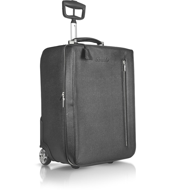 Pineider City Chic - Calfskin Trolley Upright In Black