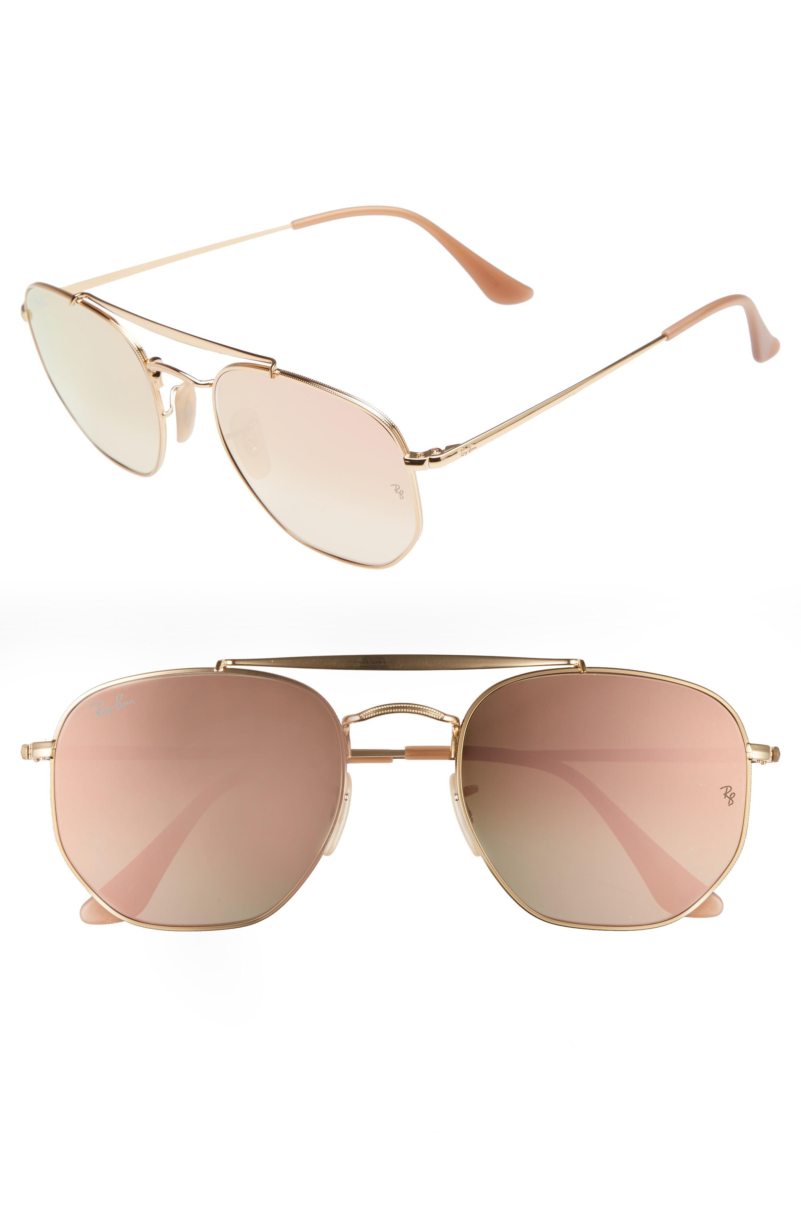 648bca6d55 Ray Ban Marshal 54Mm Aviator Sunglasses - Gold  Pink