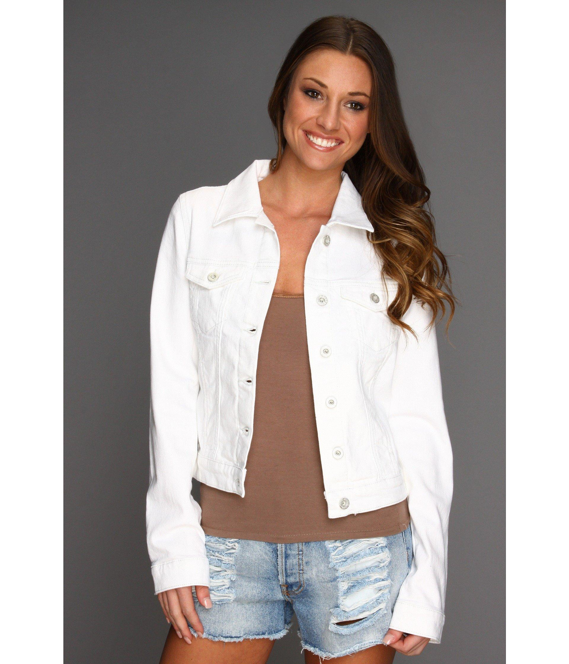 a5a2fdf86a5 Mavi Jeans Samantha Denim Jacket In White Nolita | ModeSens