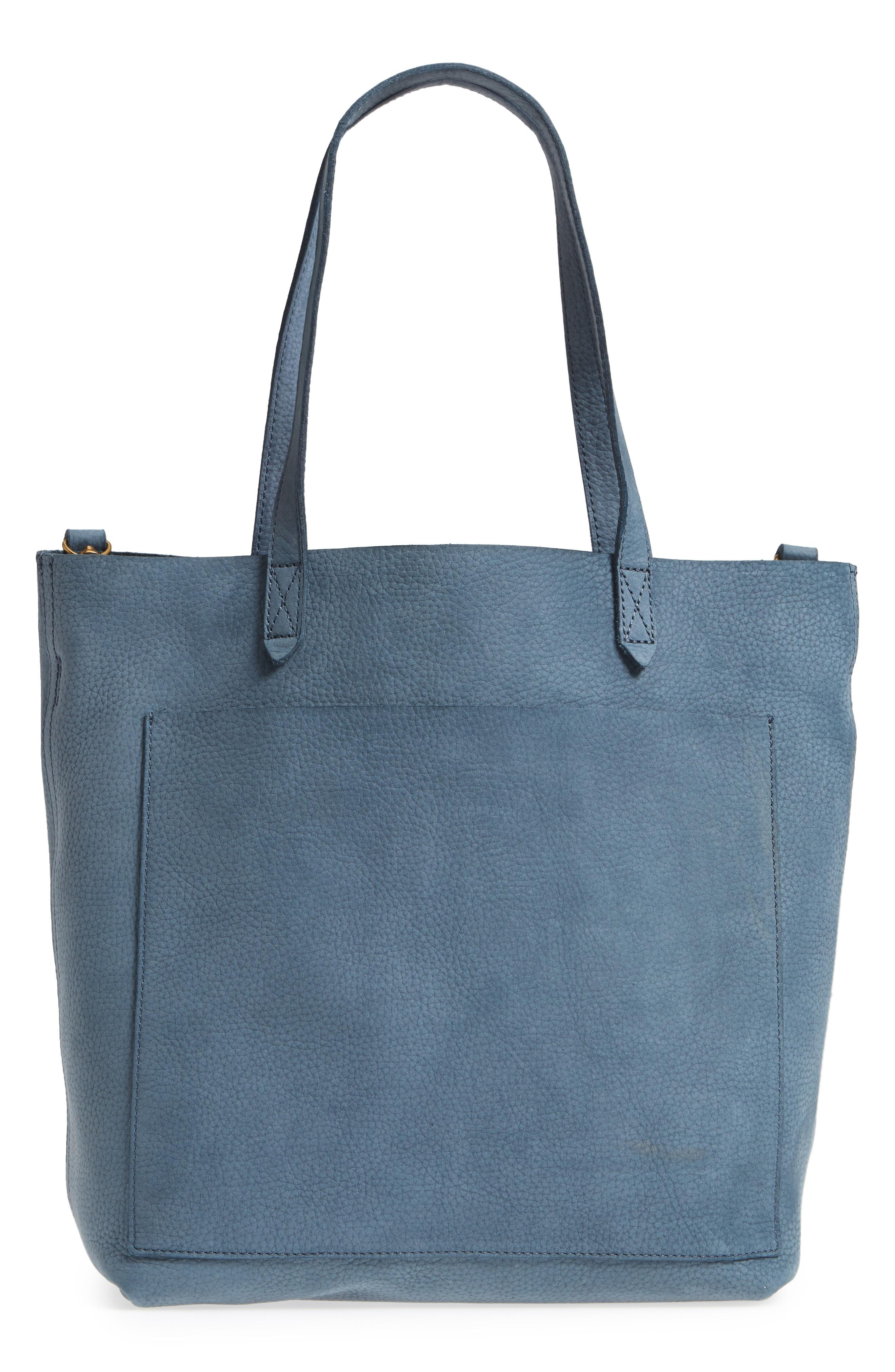 75a5ebb05 Madewell Medium Leather Transport Tote - Blue In Deep River | ModeSens