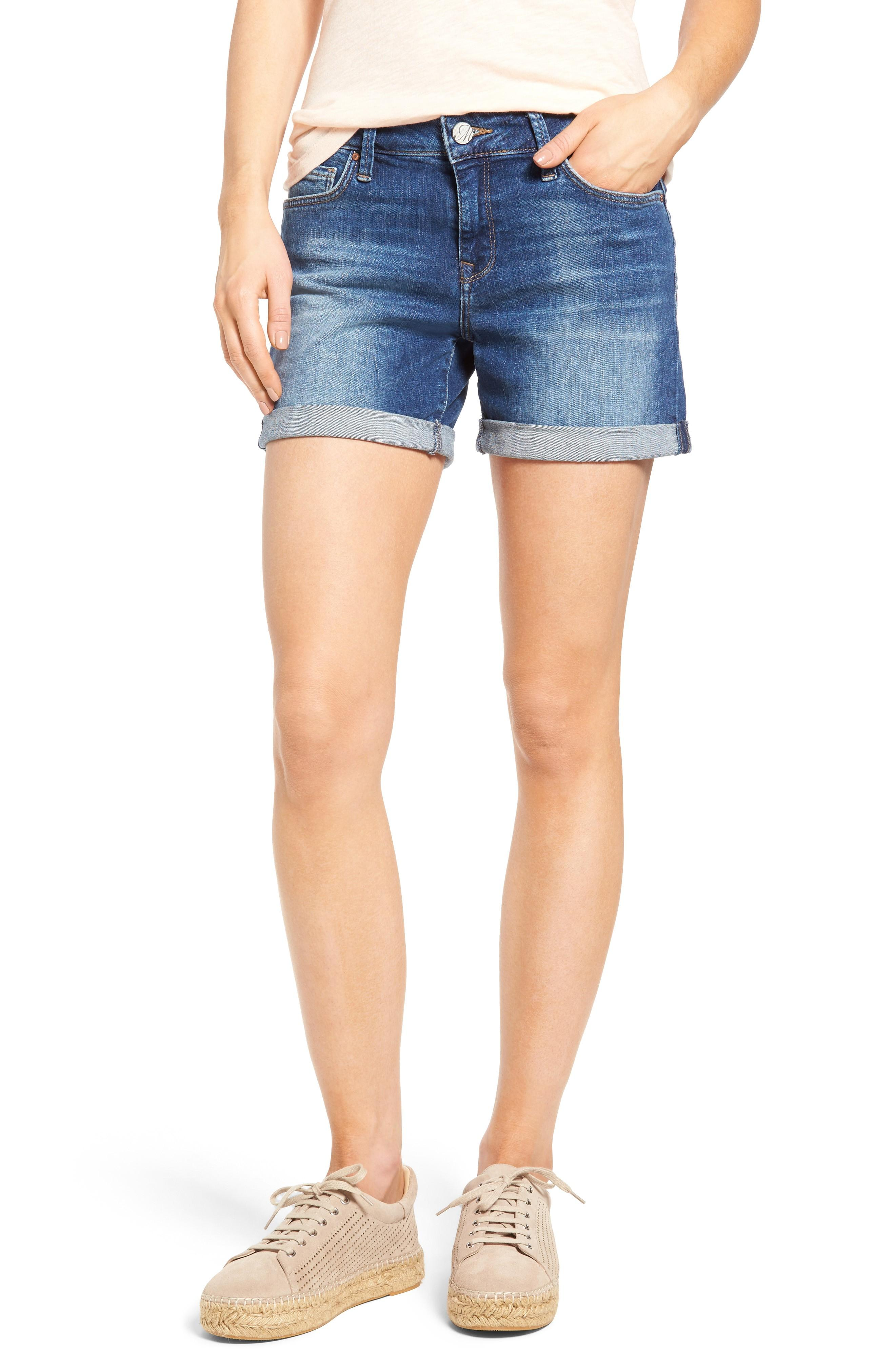 5fea32e973 Mavi Jeans Marla Roll Cuff Denim Shorts In Mid | ModeSens
