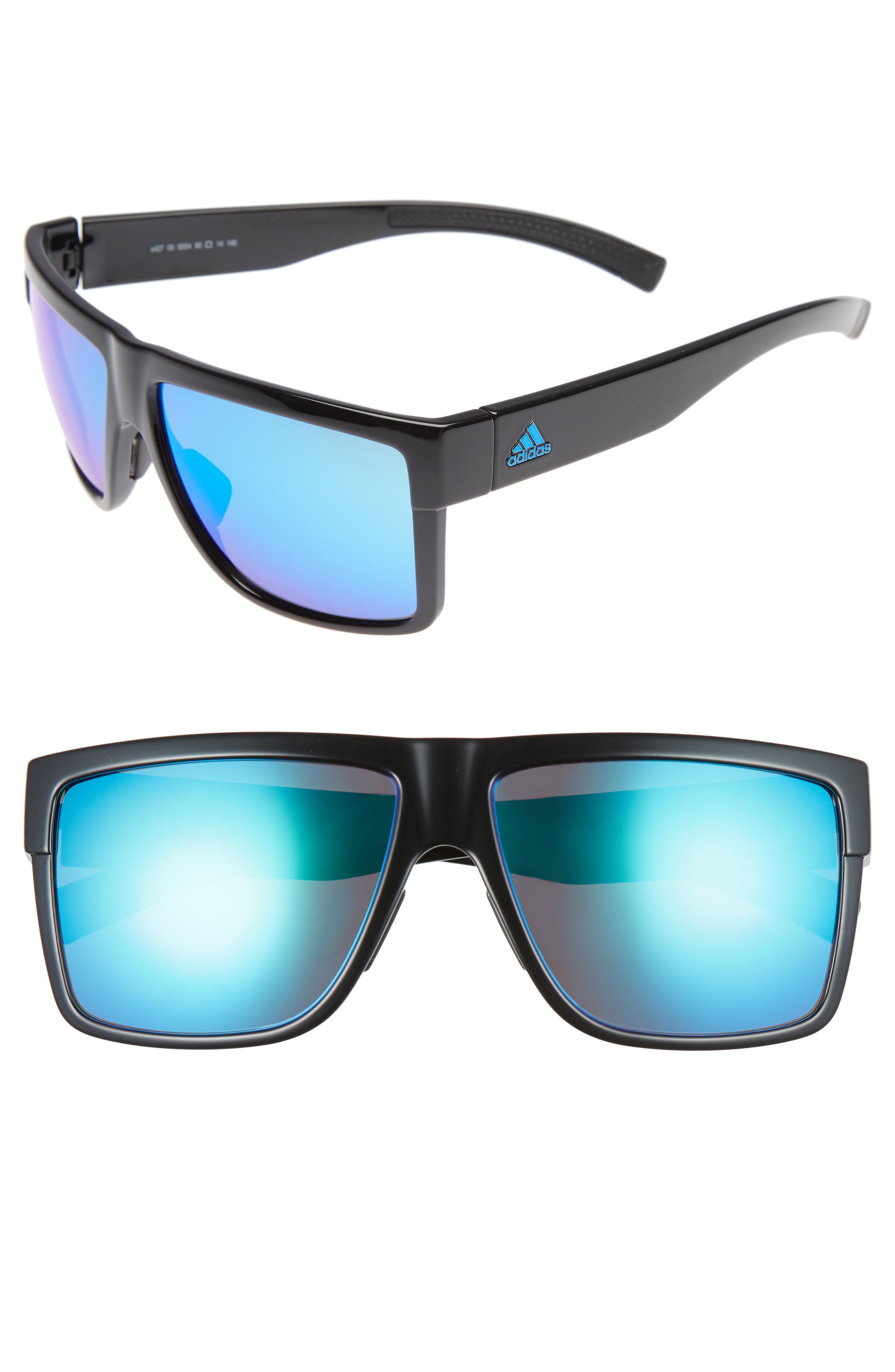 b43d68bae6eaa Adidas Originals 3Matic 60Mm Sunglasses - Black Shiny  Blue Mirror ...