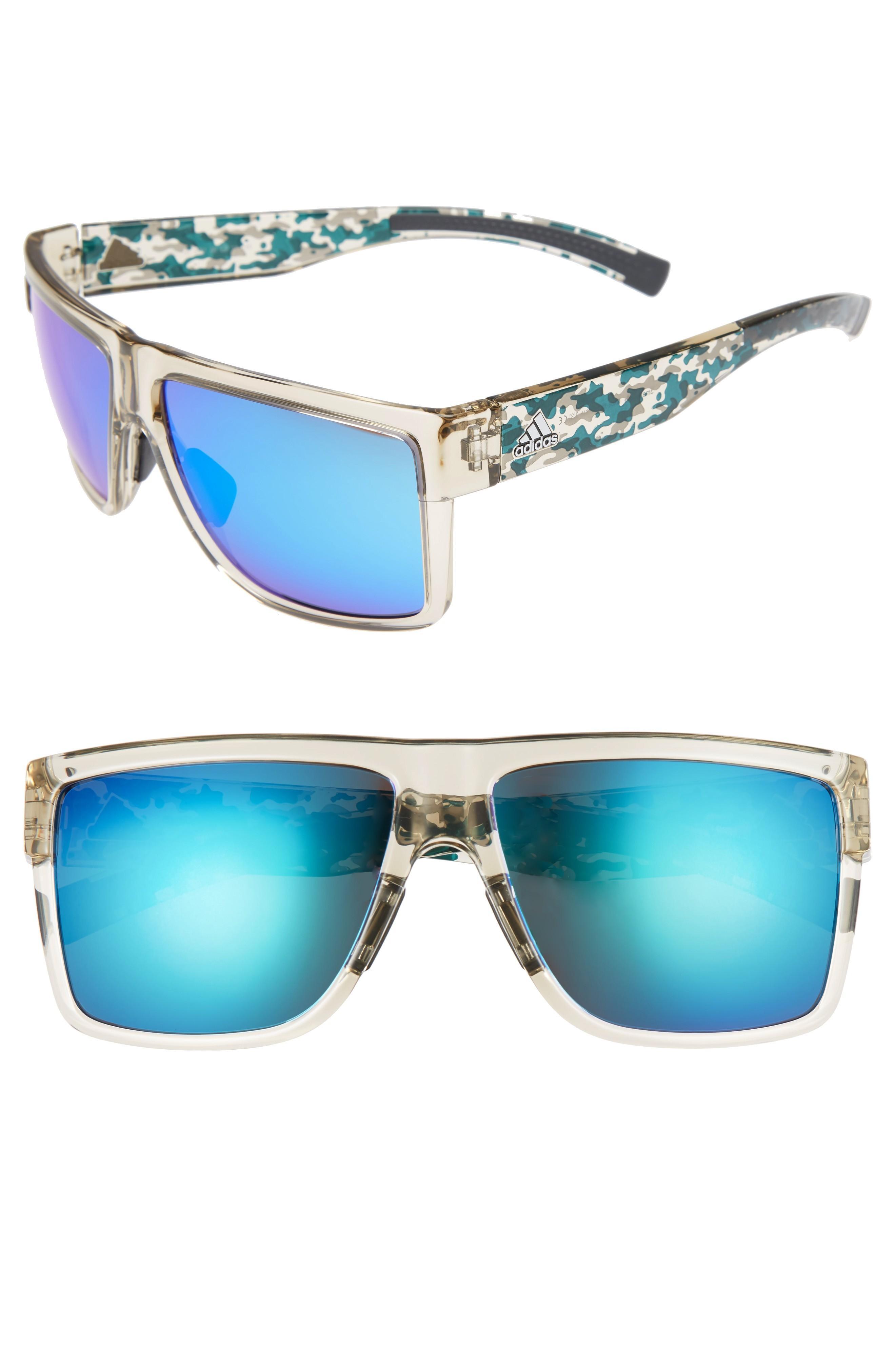 2dbd9f2059025 Adidas Originals 3Matic 60Mm Sunglasses - Clear Brown Camo  Blue ...