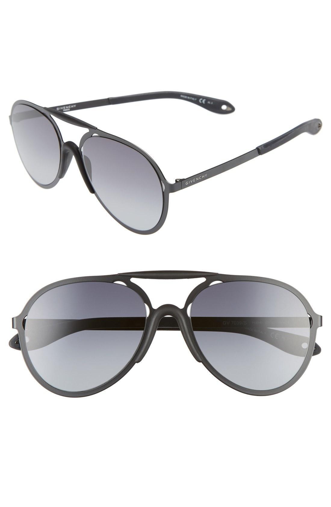 ef5347b1b1 Givenchy Gv7039 S Pde Hd Black Matte Aviator Sunglasses In Black  Grey  Gradient