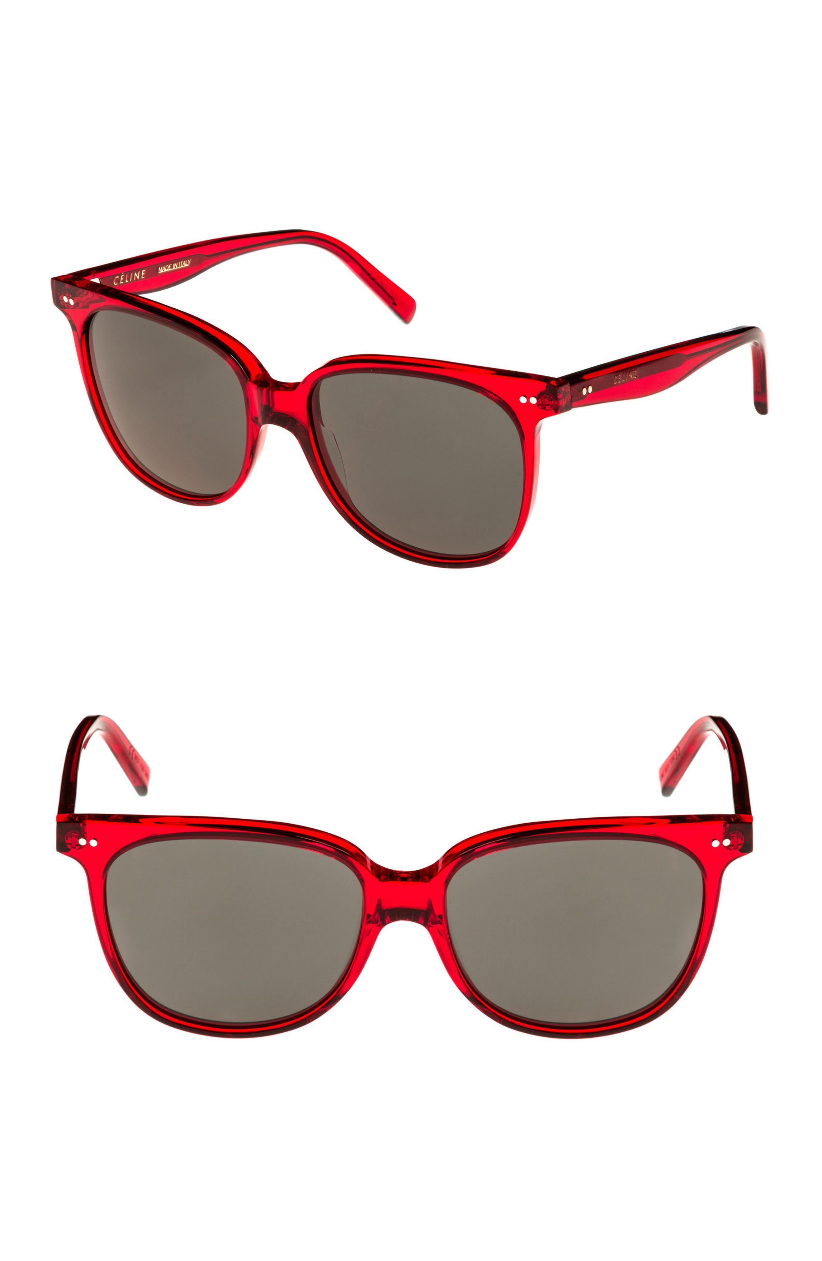 a024e48d3e6 Celine 57Mm Square Sunglasses - Red  Green