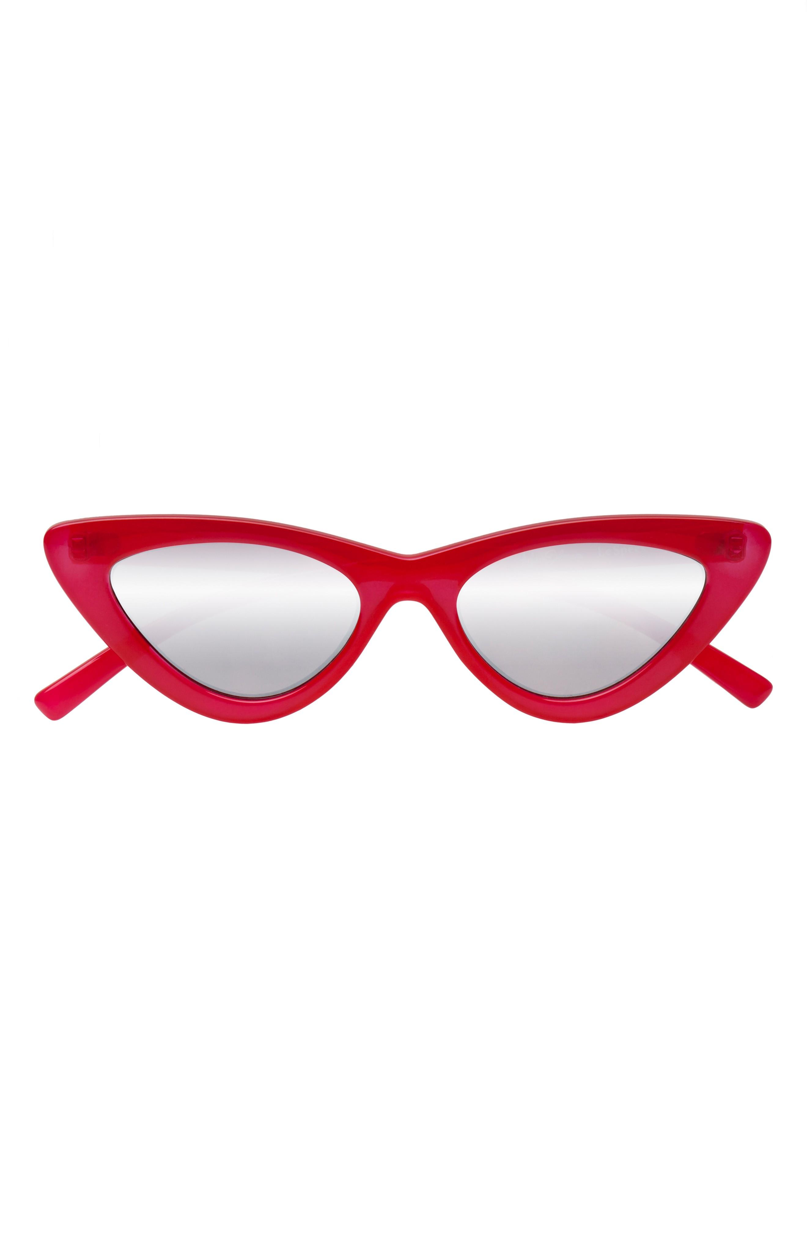160228ac27 Le Specs X Adam Selman Last Lolita 49Mm Cat Eye Sunglasses - Opaque ...